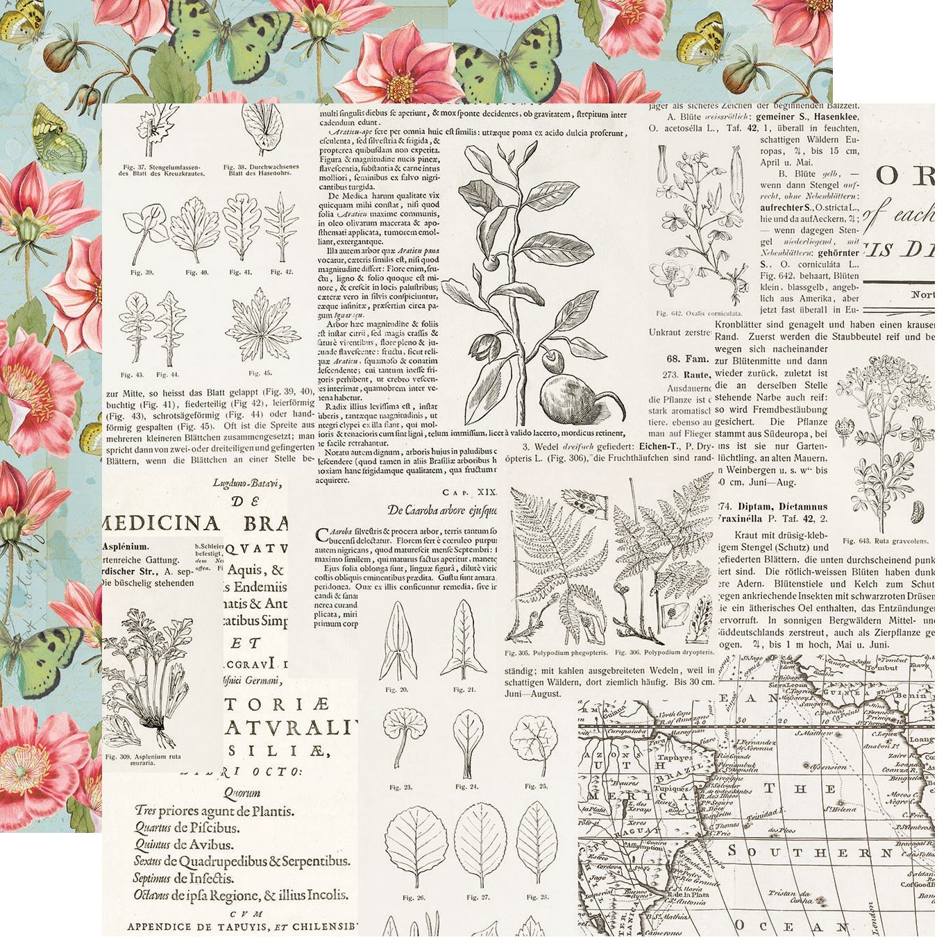 Simple Vintage Botanicals Double-Sided Cardstock 12X12-Beautiful Day