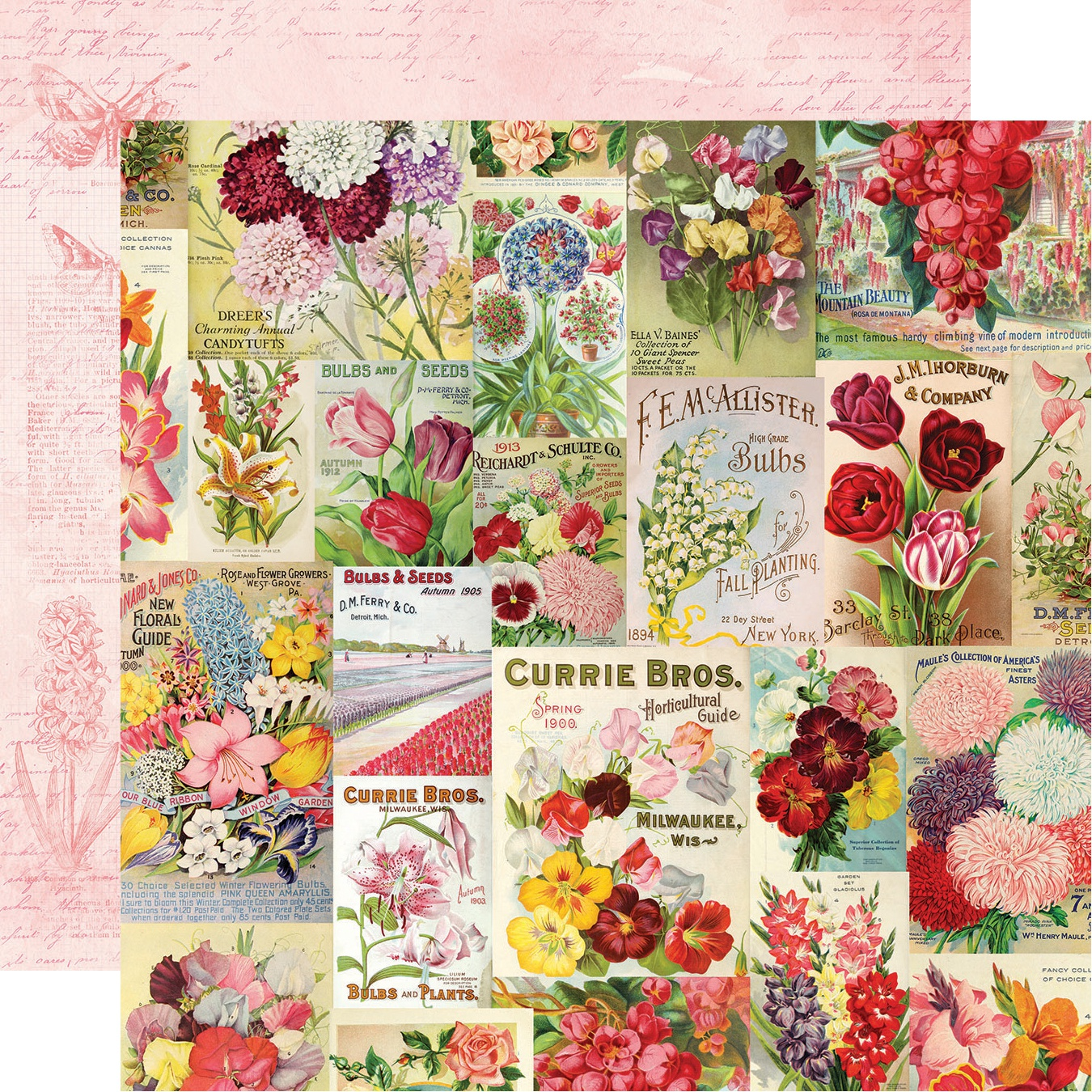 Simple Vintage Botanicals Double-Sided Cardstock 12X12-Scatter Kindness