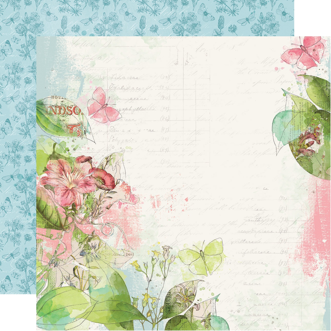 Simple Vintage Botanicals Double-Sided Cardstock 12X12-Shine Bright