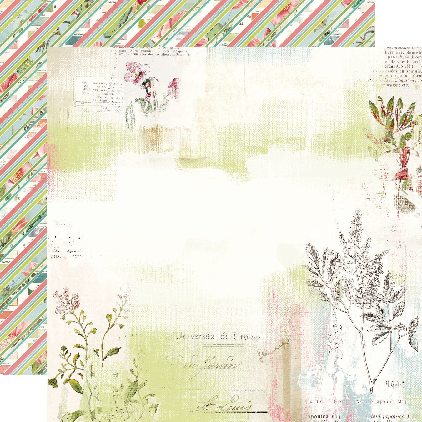 Simple Vintage Botanicals Double-Sided Cardstock 12X12-Love & Sunshine