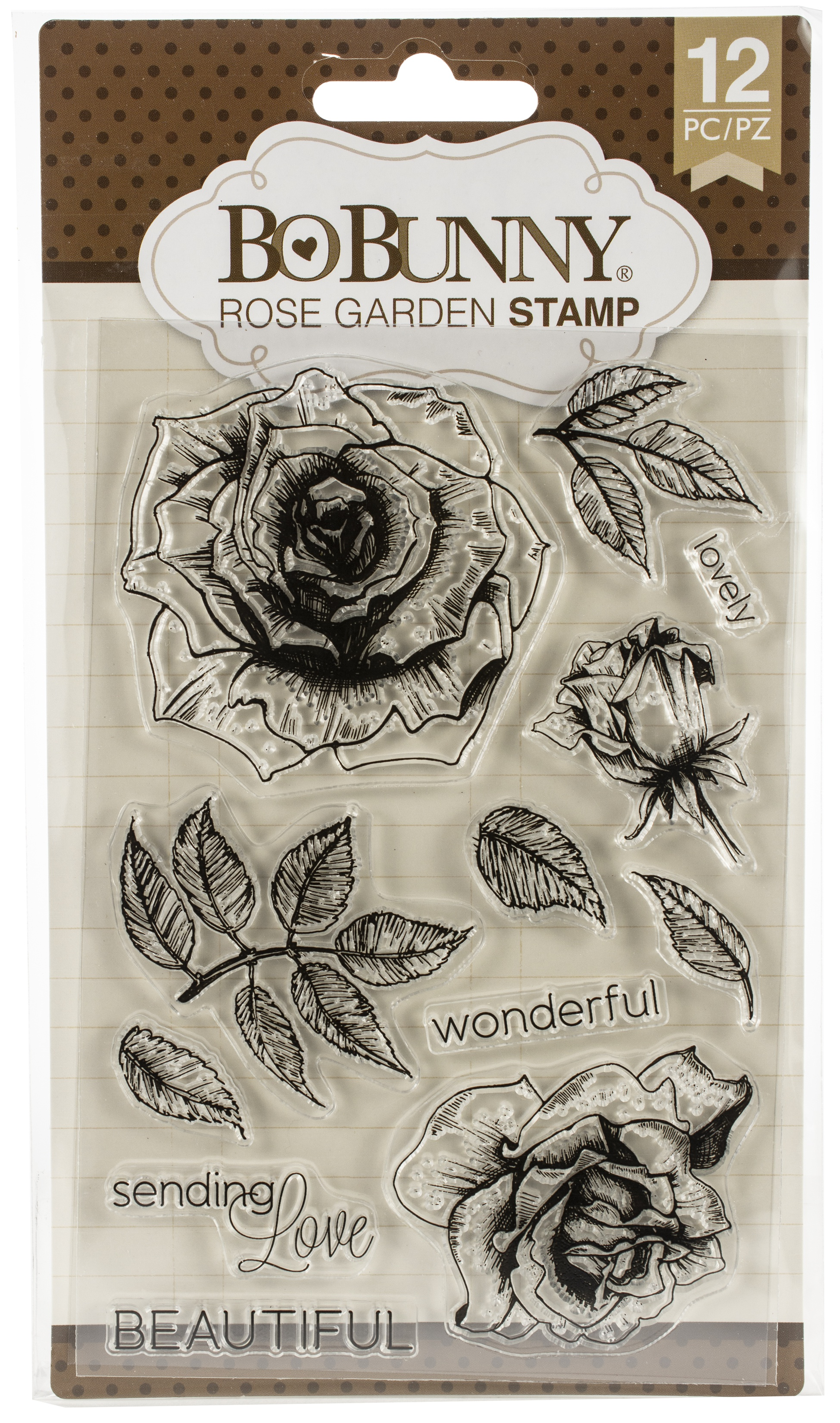 BoBunny Clear Stamps 4X6-Rose Garden