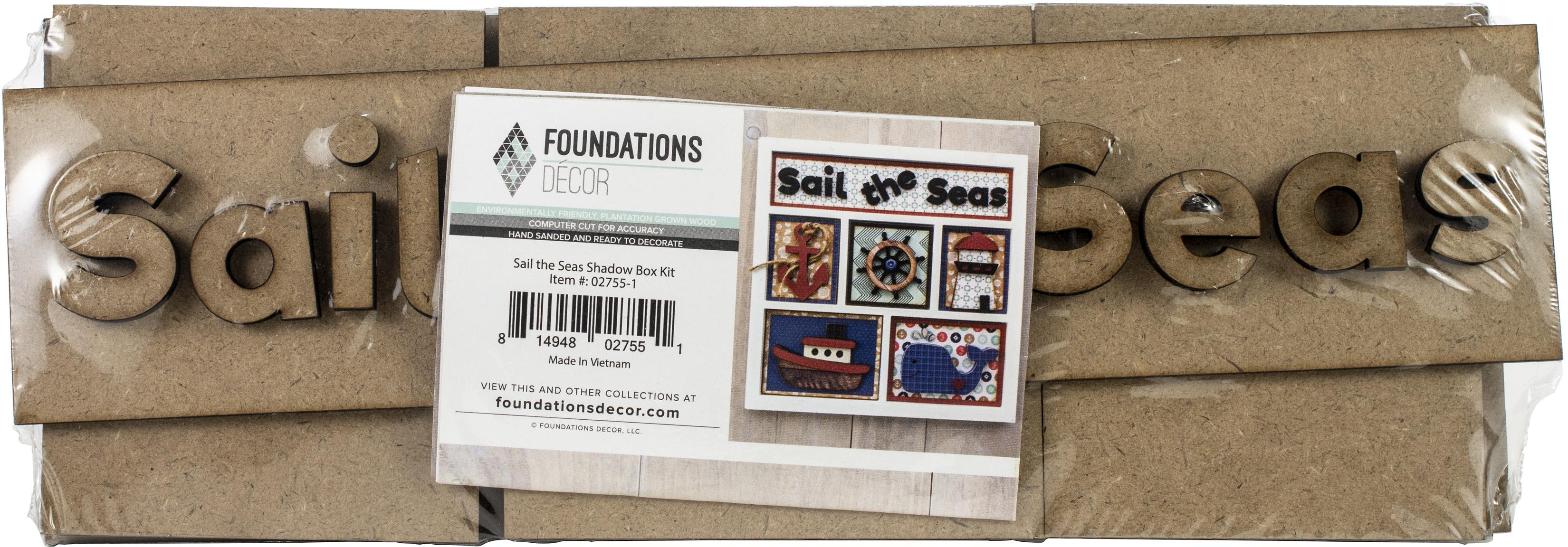 Foundations Decor Shadow Box Kit-Sail The Seas