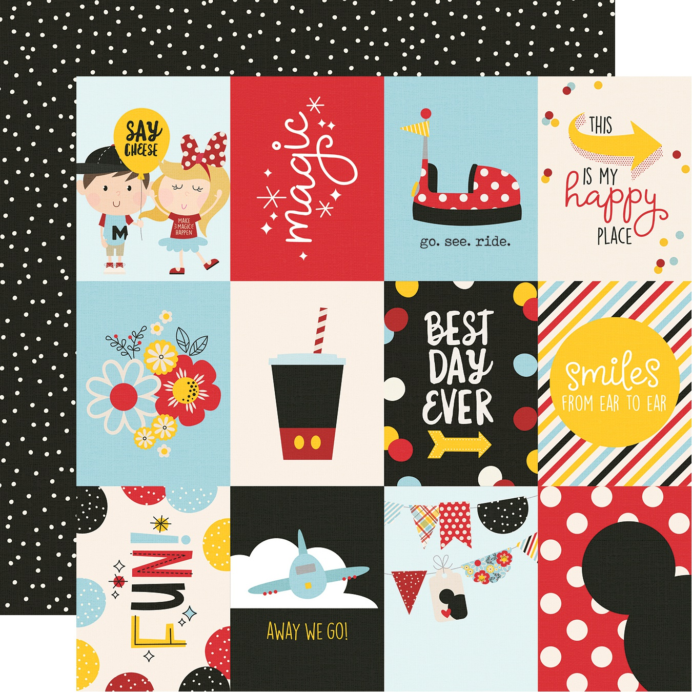 Say Cheese 4 Double-Sided Cardstock 12X12-3X4 Elements