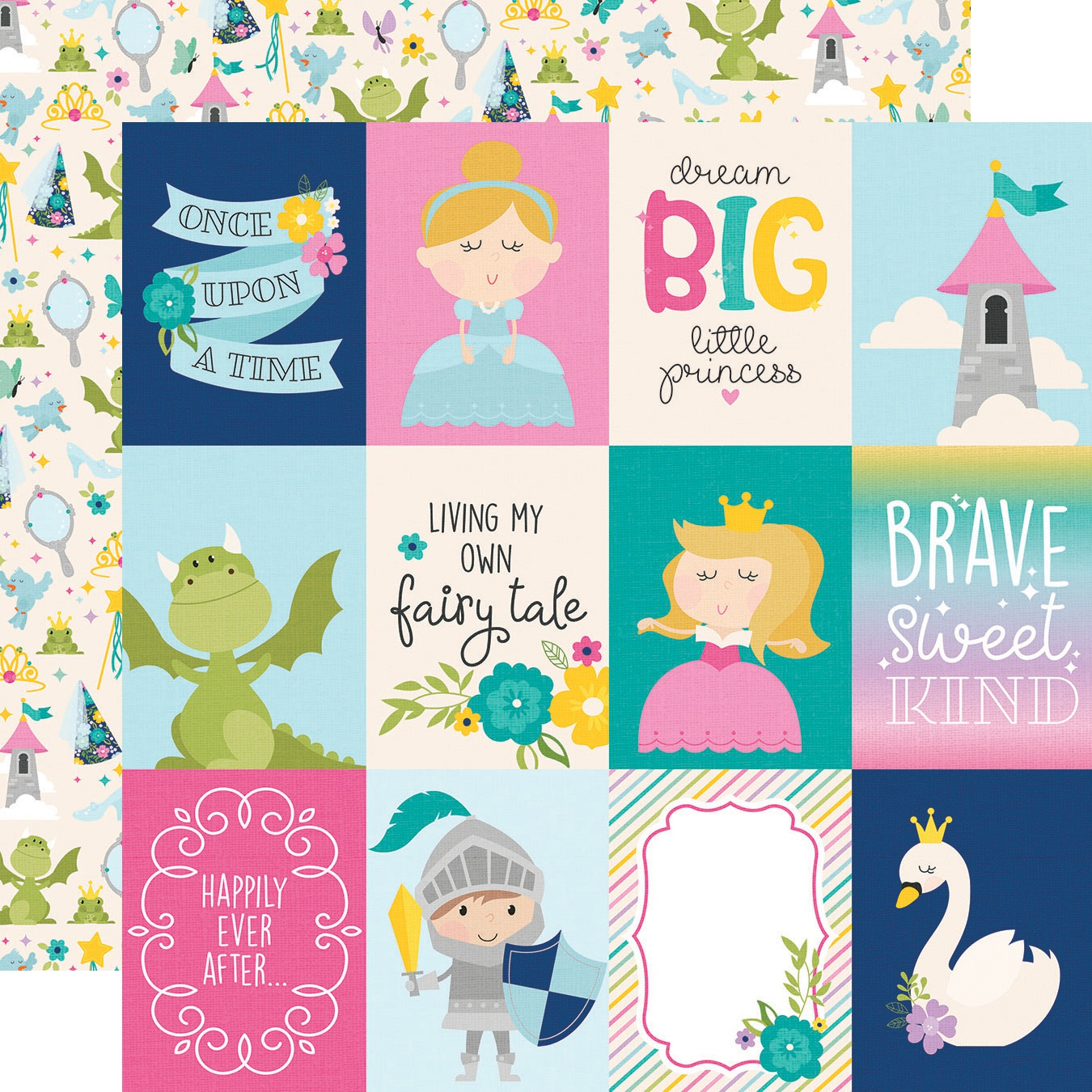 Little Princess Double-Sided Cardstock 12X12-3X4 Elements