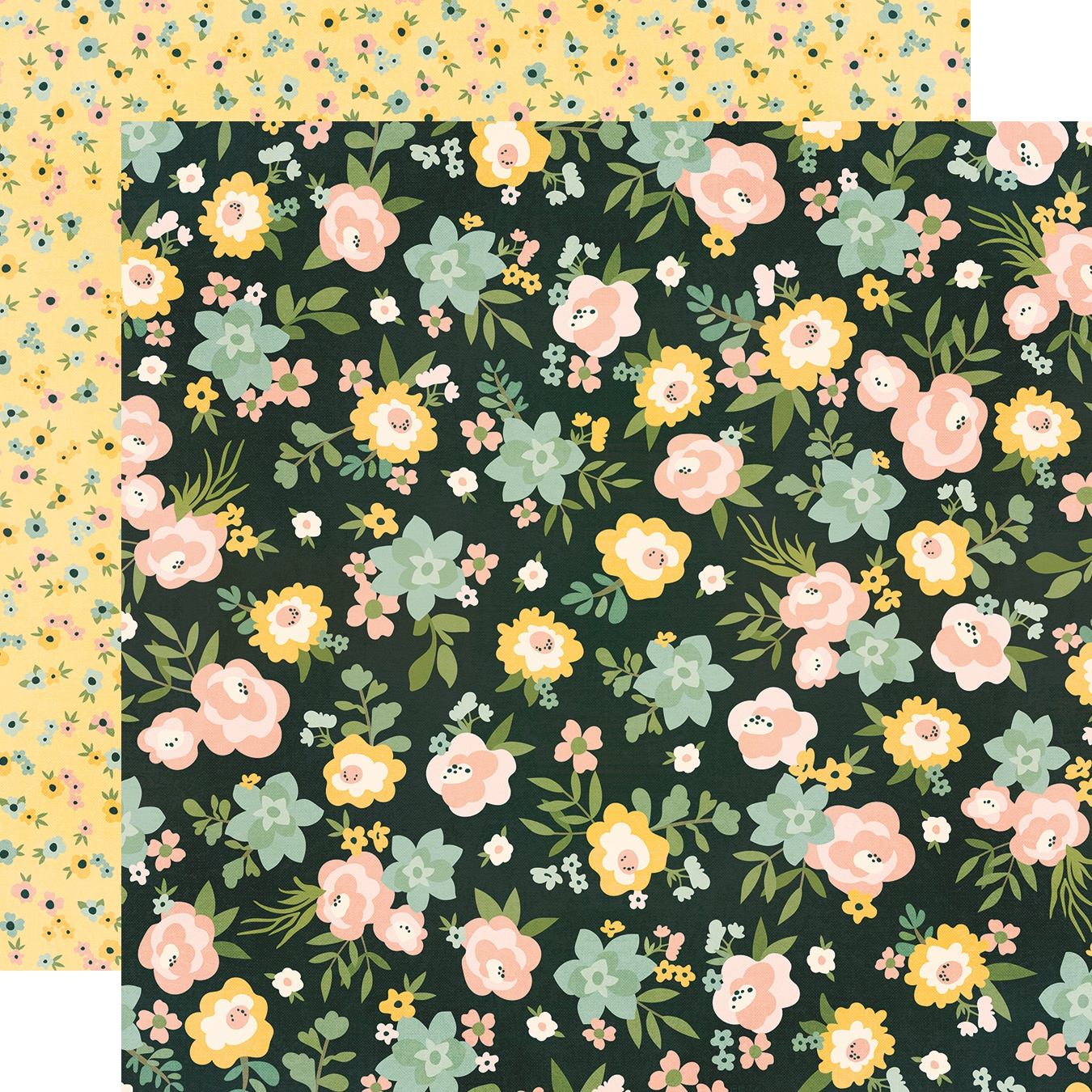 Spring Farmhouse Double-Sided Cardstock 12X12-Live Simply