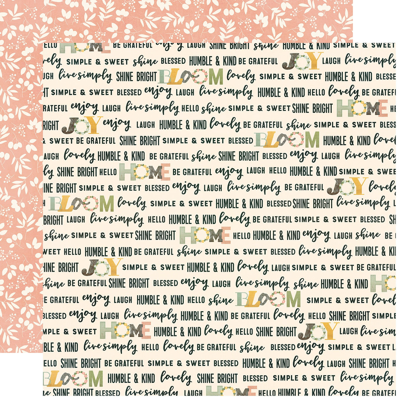 Spring Farmhouse Double-Sided Cardstock 12X12-Love This Life
