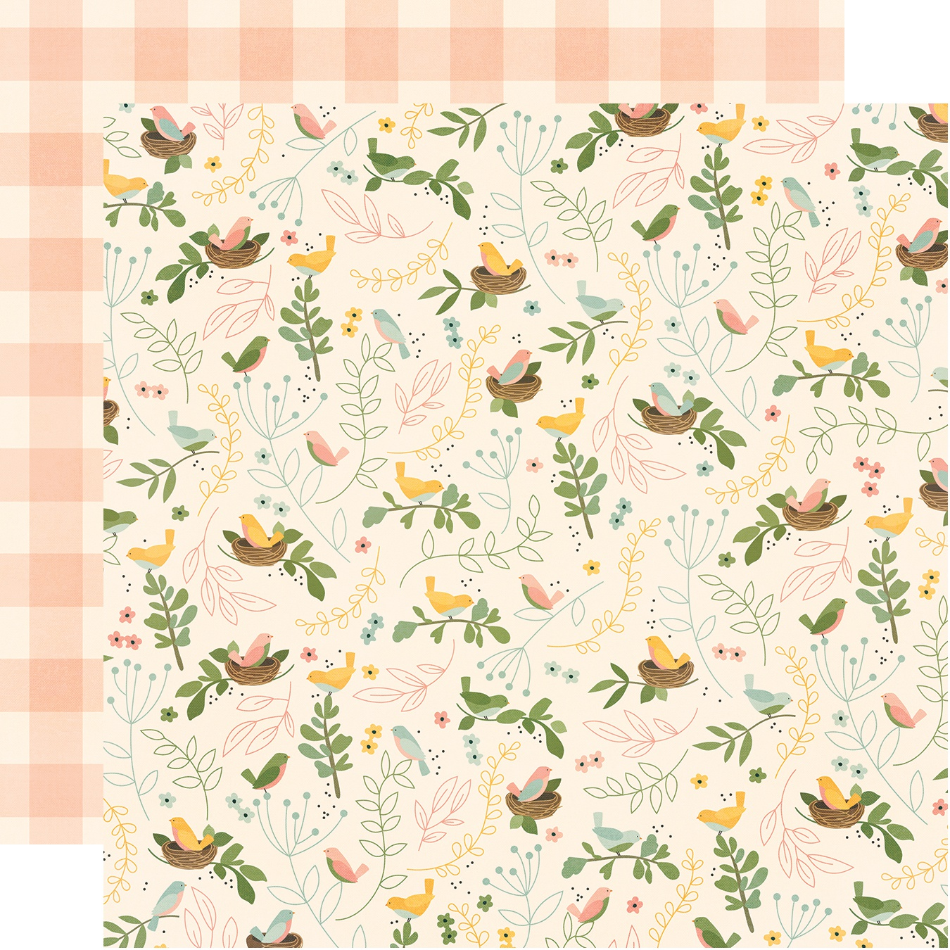 Spring Farmhouse Double-Sided Cardstock 12X12-So Blessed