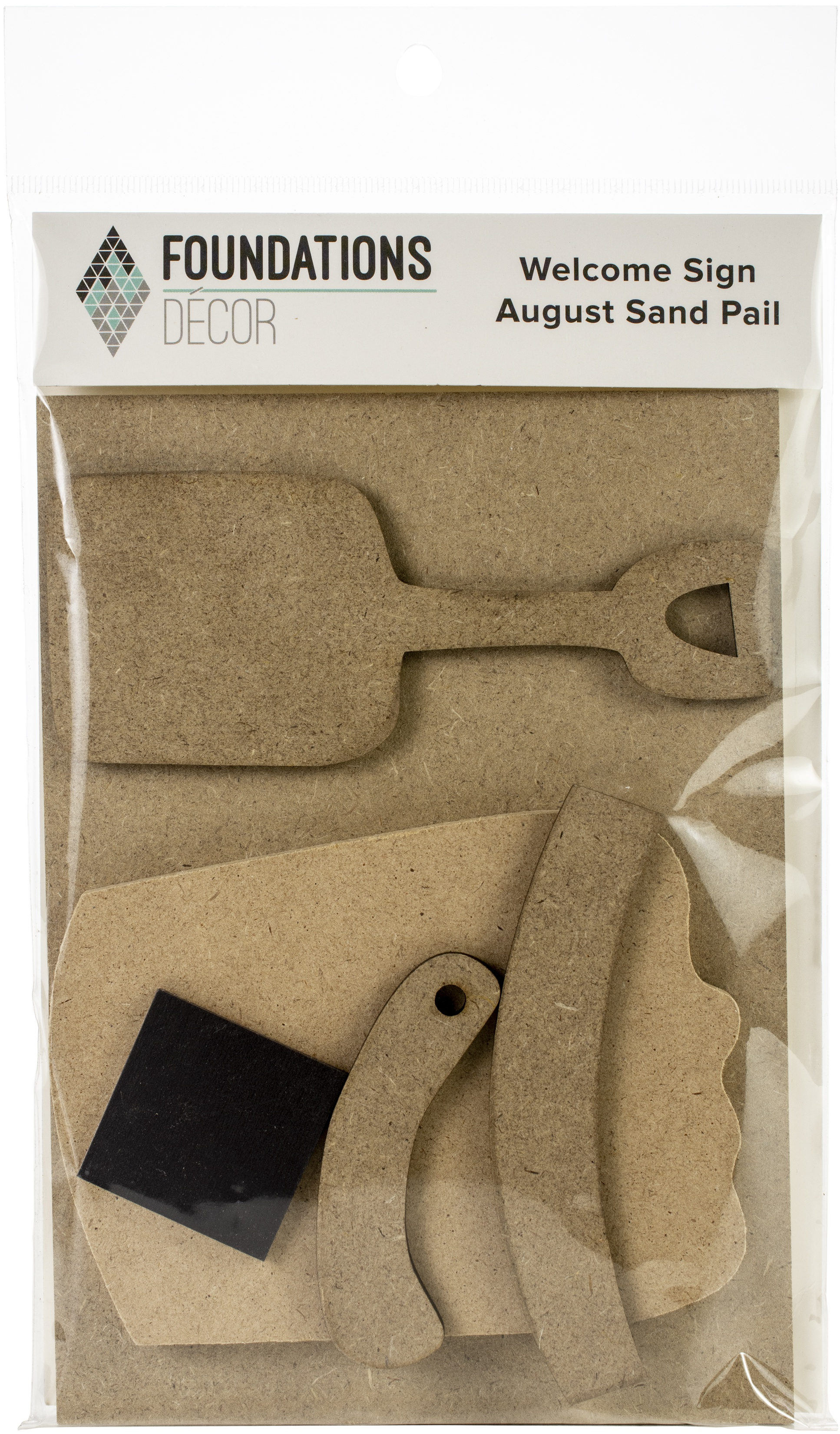 Foundations Decor Welcome Sign Kits-August - Sand Pail/Shovel