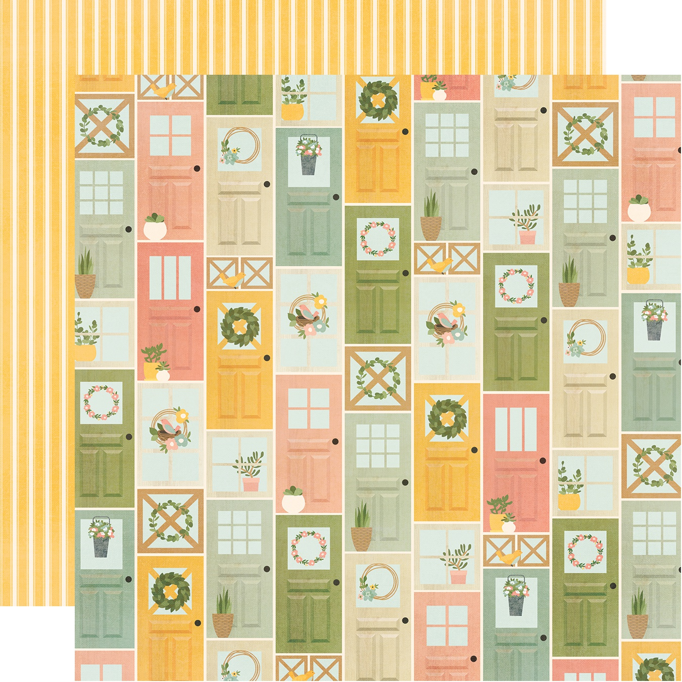 Spring Farmhouse Double-Sided Cardstock 12X12-Welcome Home