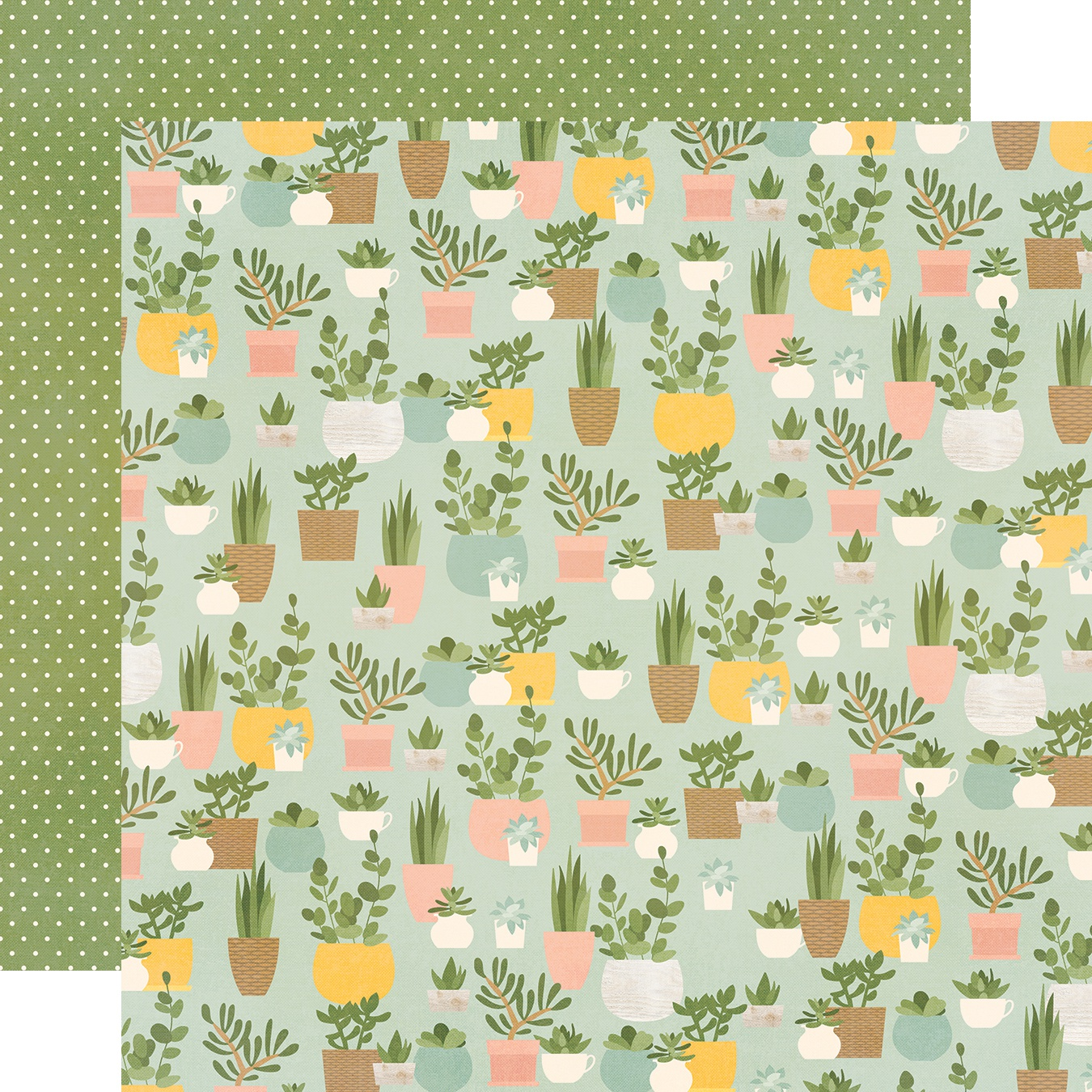 Spring Farmhouse Double-Sided Cardstock 12X12-Plant Smiles