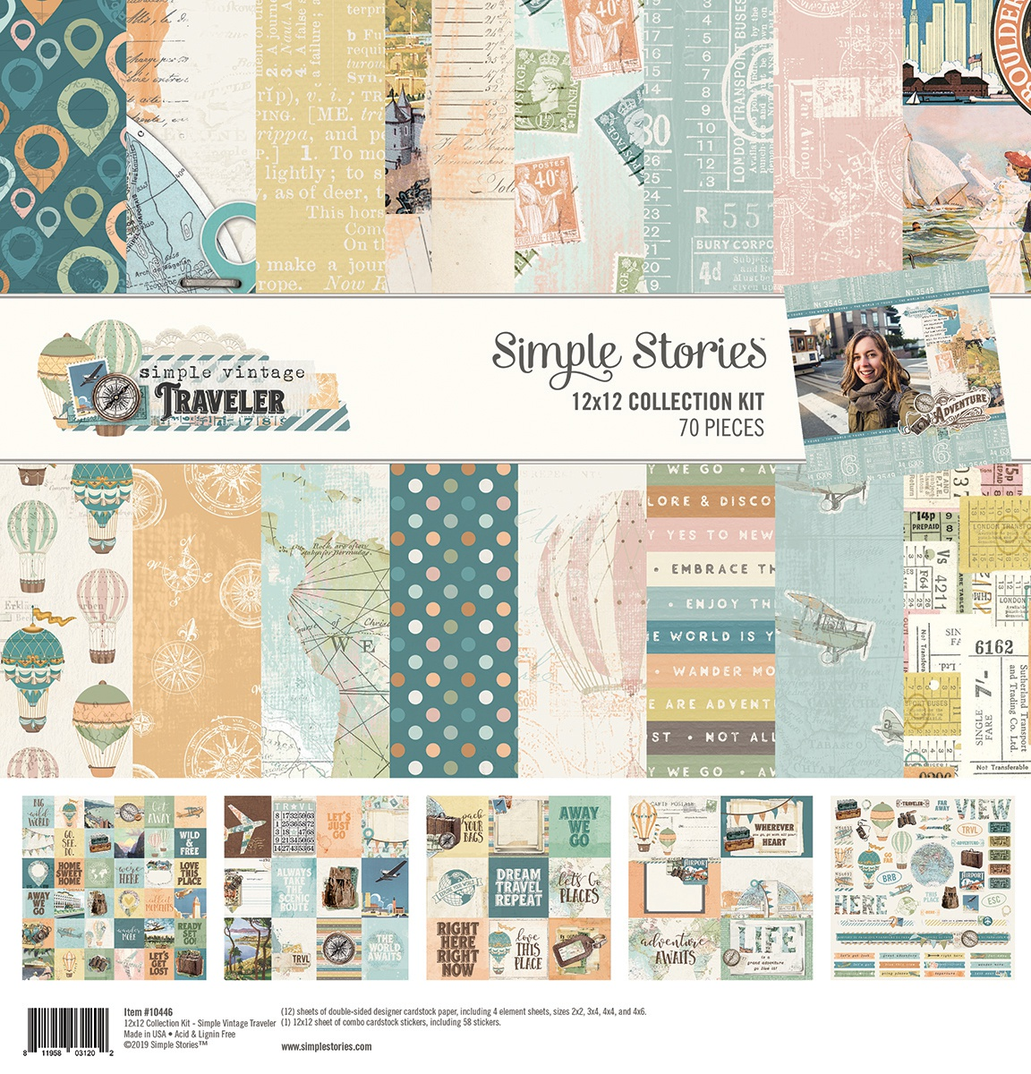 Simple Stories - Simple Vintage Traveler 12x12 Collection Kit