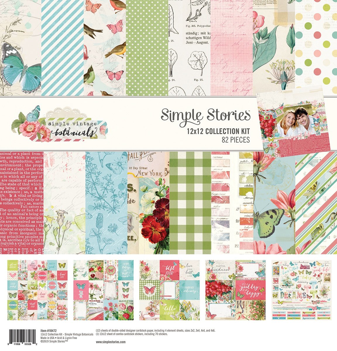 Simple Stories Collection Kit 12X12-Simple Vintage Botanicals