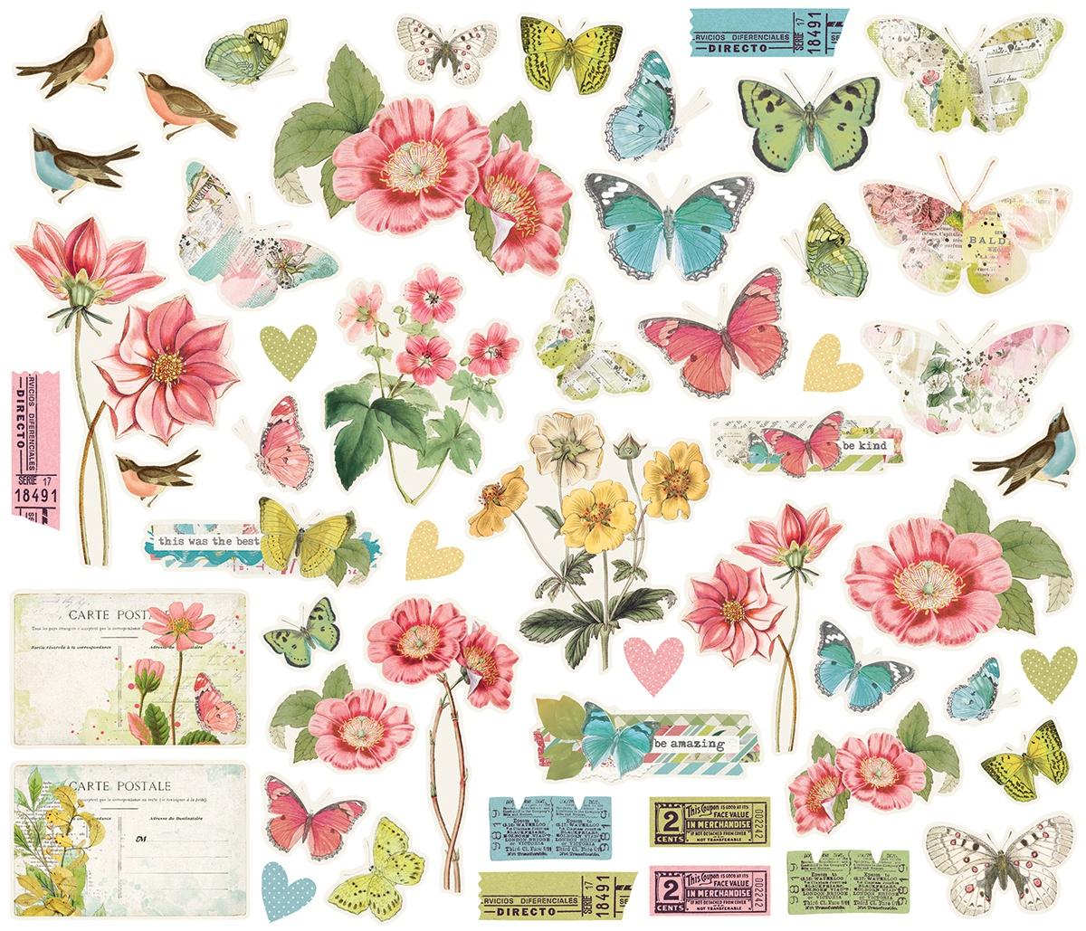 Simple Vintage Botanicals Bits & Pieces Die-Cuts 54/Pkg-
