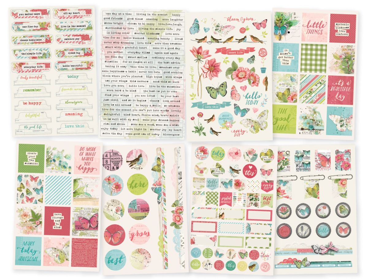 Simple Vintage Botanicals Stickers 4X6 8/Pkg-