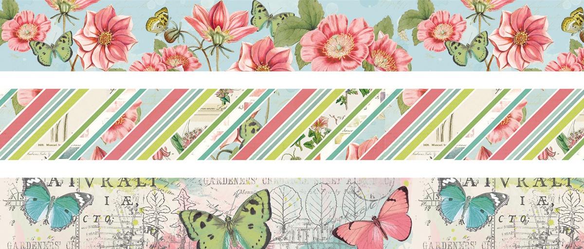 Simple Vintage Botanicals Washi Tape 3/Pkg-