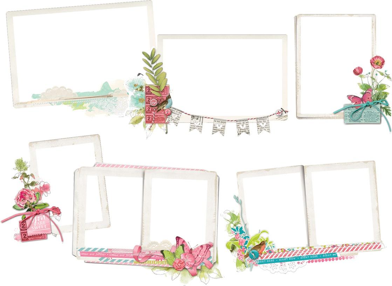 Simple Vintage Botanicals Layered Frames Die-Cuts 6/Pkg-