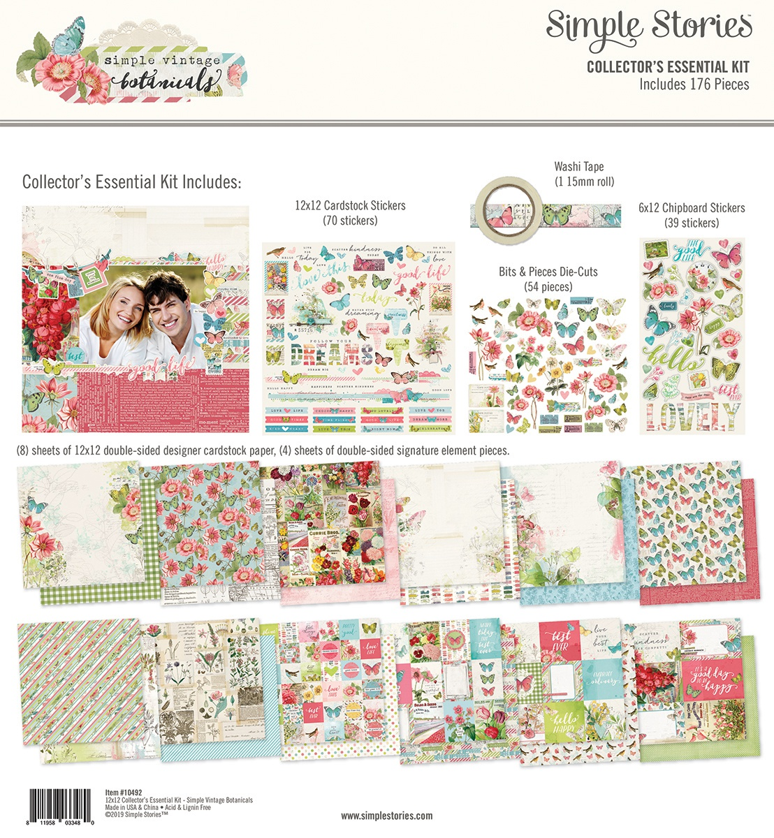 Simple Stories Collector's Essential Kit 12X12-Simple Vintage Botanicals