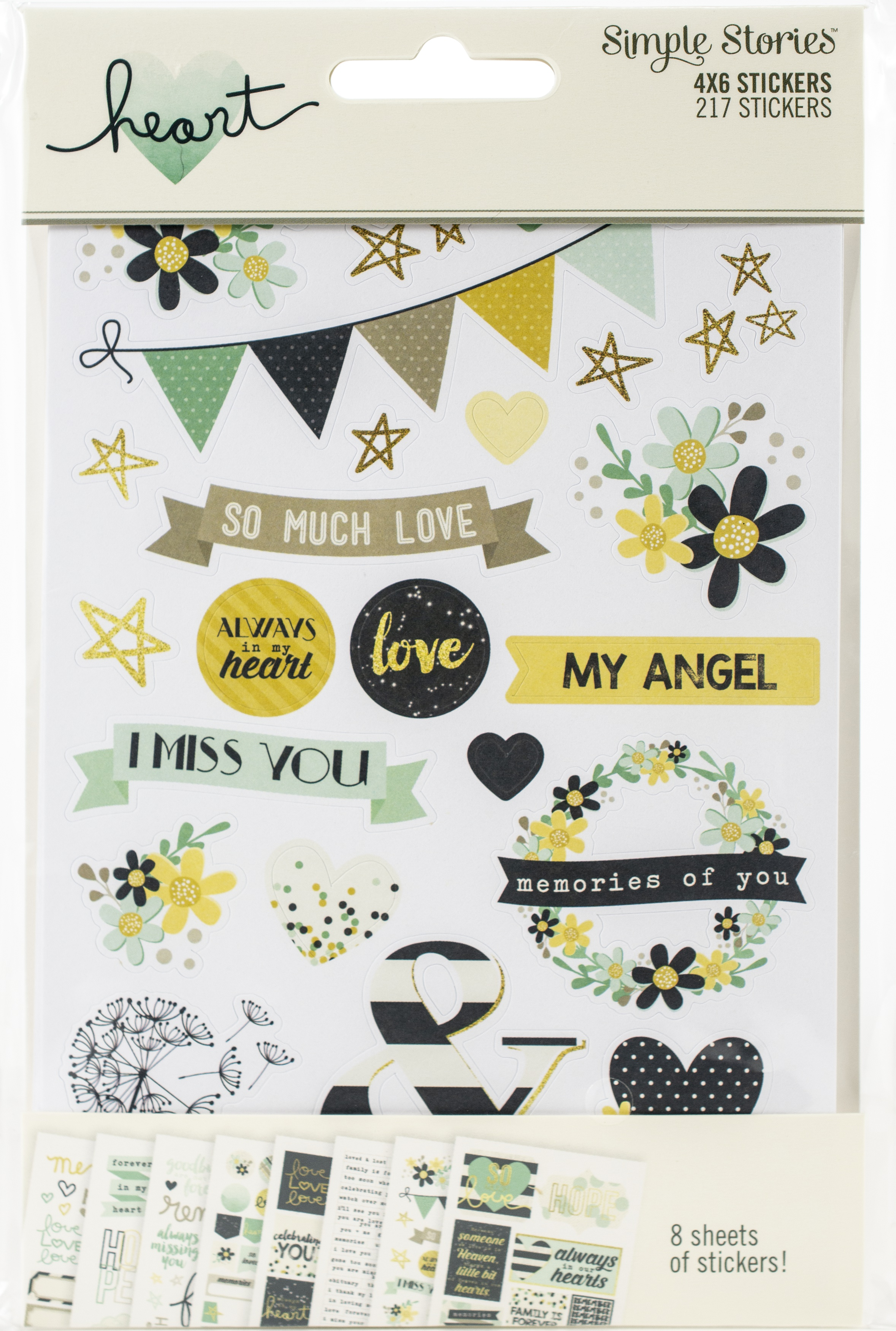 Heart Collection - 4x6 Stickers, 8/pkg (Simple Stories)