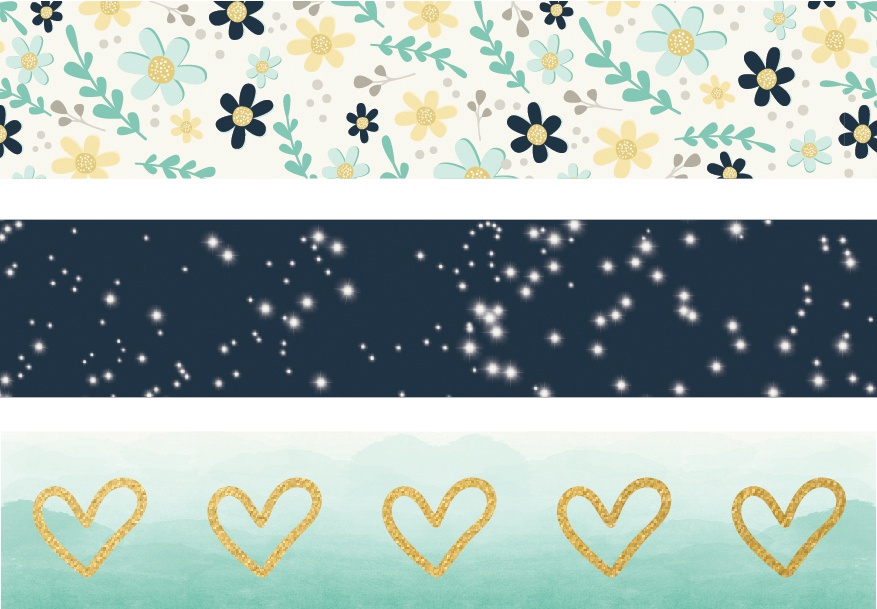 Carpe Diem - Heart - Washi Tape - 3 Rolls
