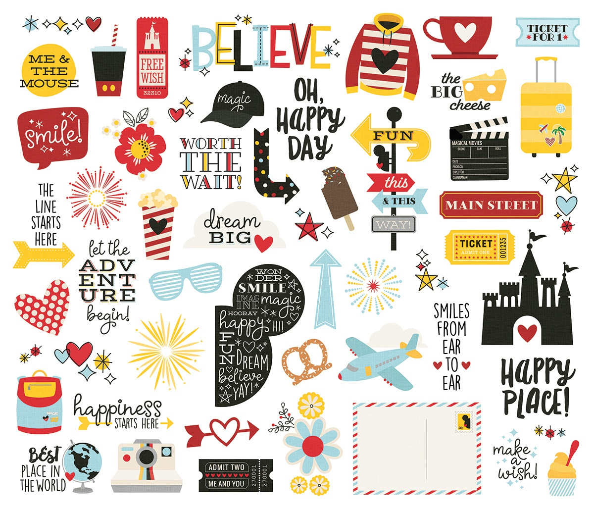 Say Cheese 4 Bits & Pieces Die-Cuts 54/Pkg-