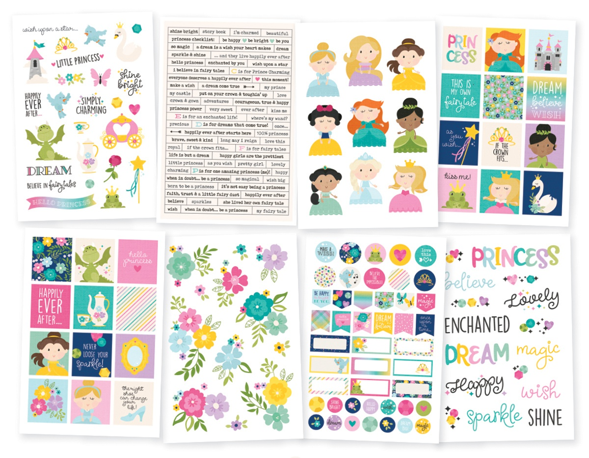 Little Princess Stickers 4X6 8/Pkg-