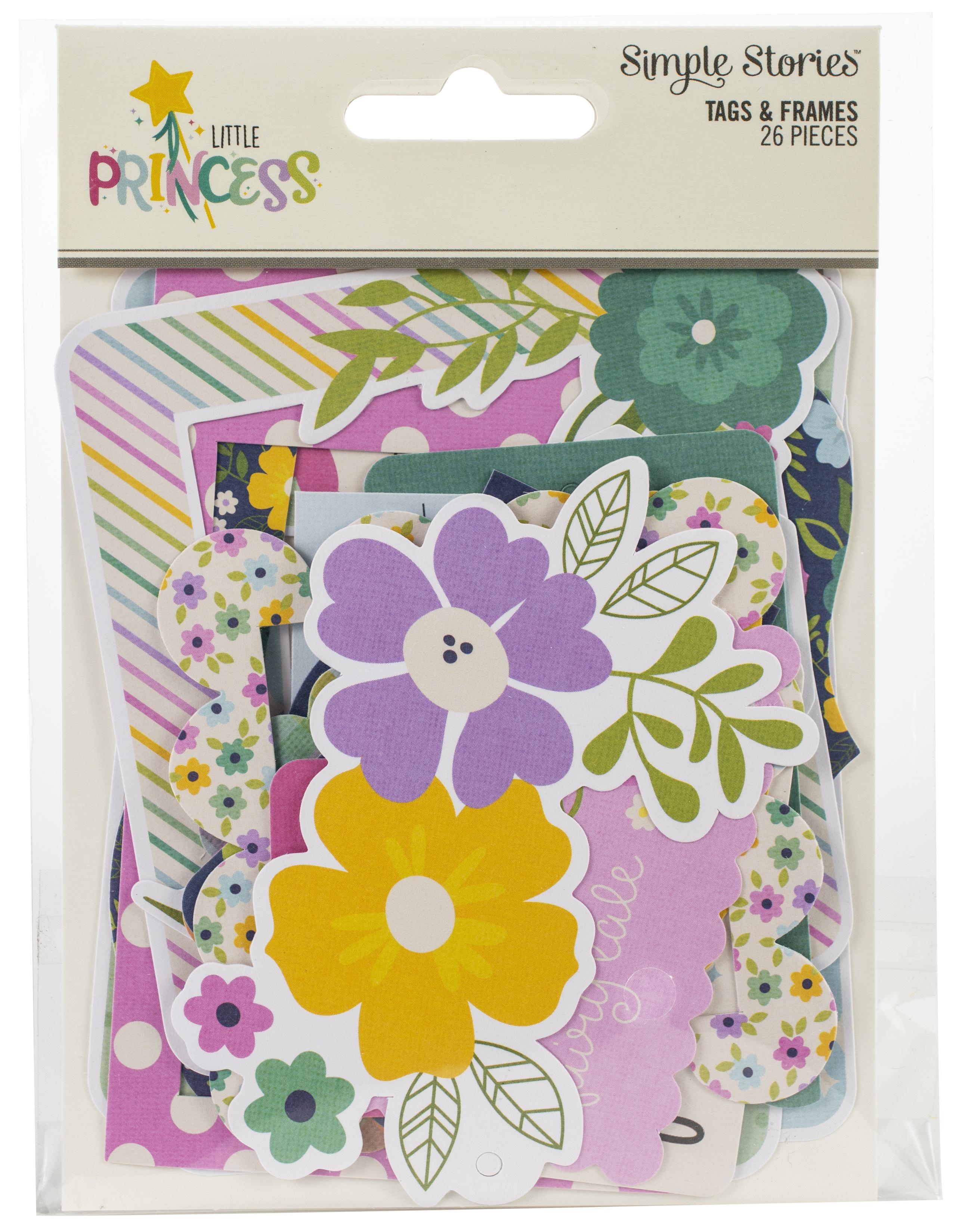 Little Princess Tags & Frames Die-Cuts 26/Pkg-