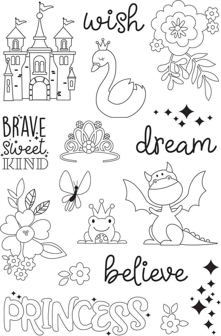 Little Princess Photopolymer Clear Stamps-Make A Wish