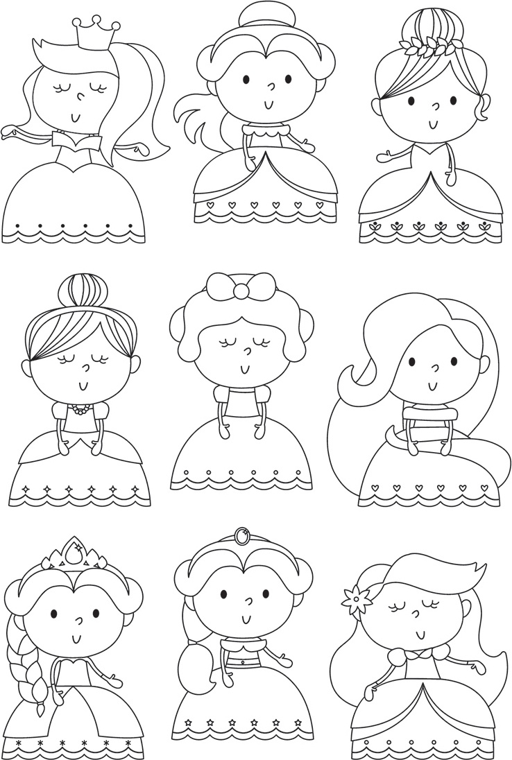 Little Princess Photopolymer Clear Stamps-Pretty Princess
