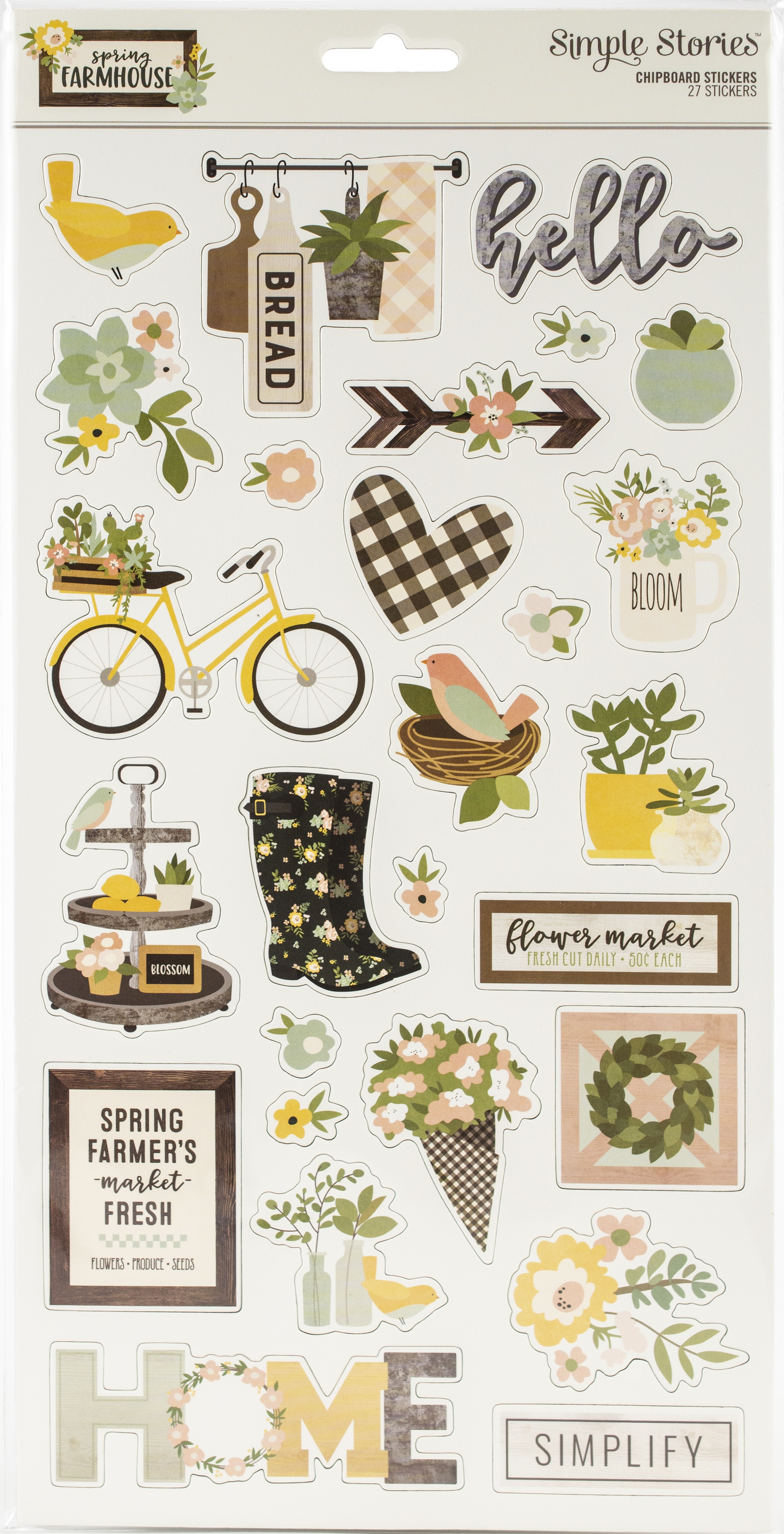 6X12 CHIPB-SPRING FARM STICKERS