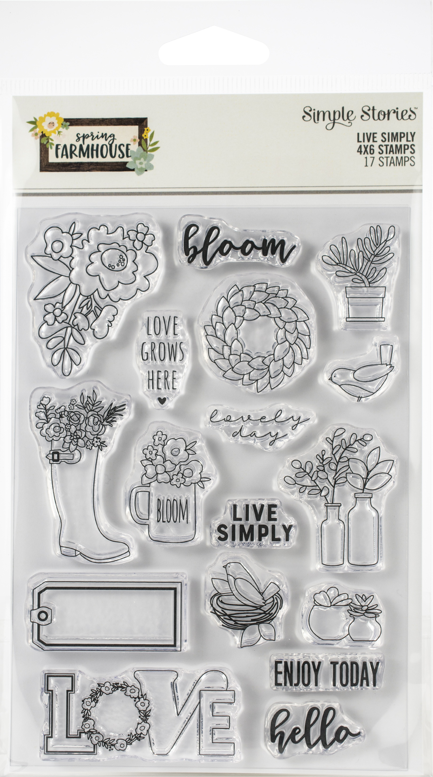 Spring Farmhouse Photopolymer Clear Stamps-Live Simply