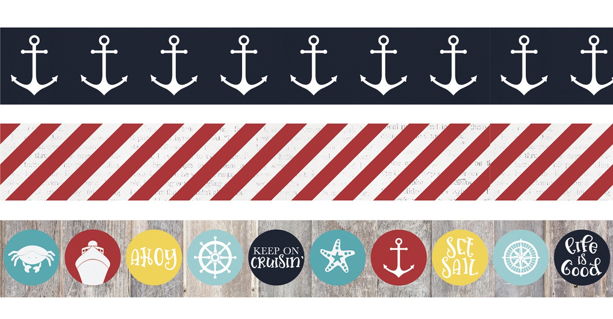 Simple Stories Cruisin' Washi Tape 3/Pkg-