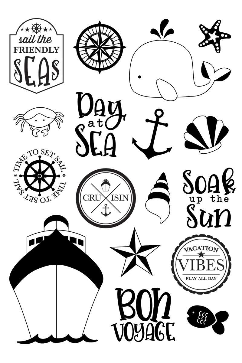 Cruisin' Photopolymer Clear Stamps-Set Sail