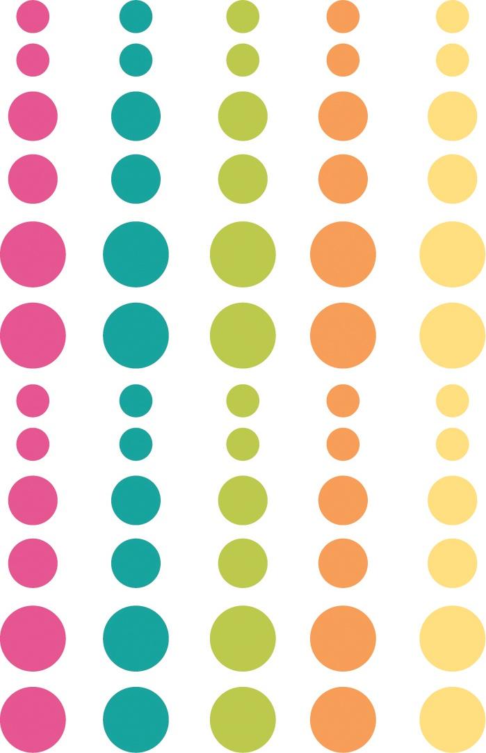 Oh Happy Day Enamel Dots Embellishments 60/Pkg-