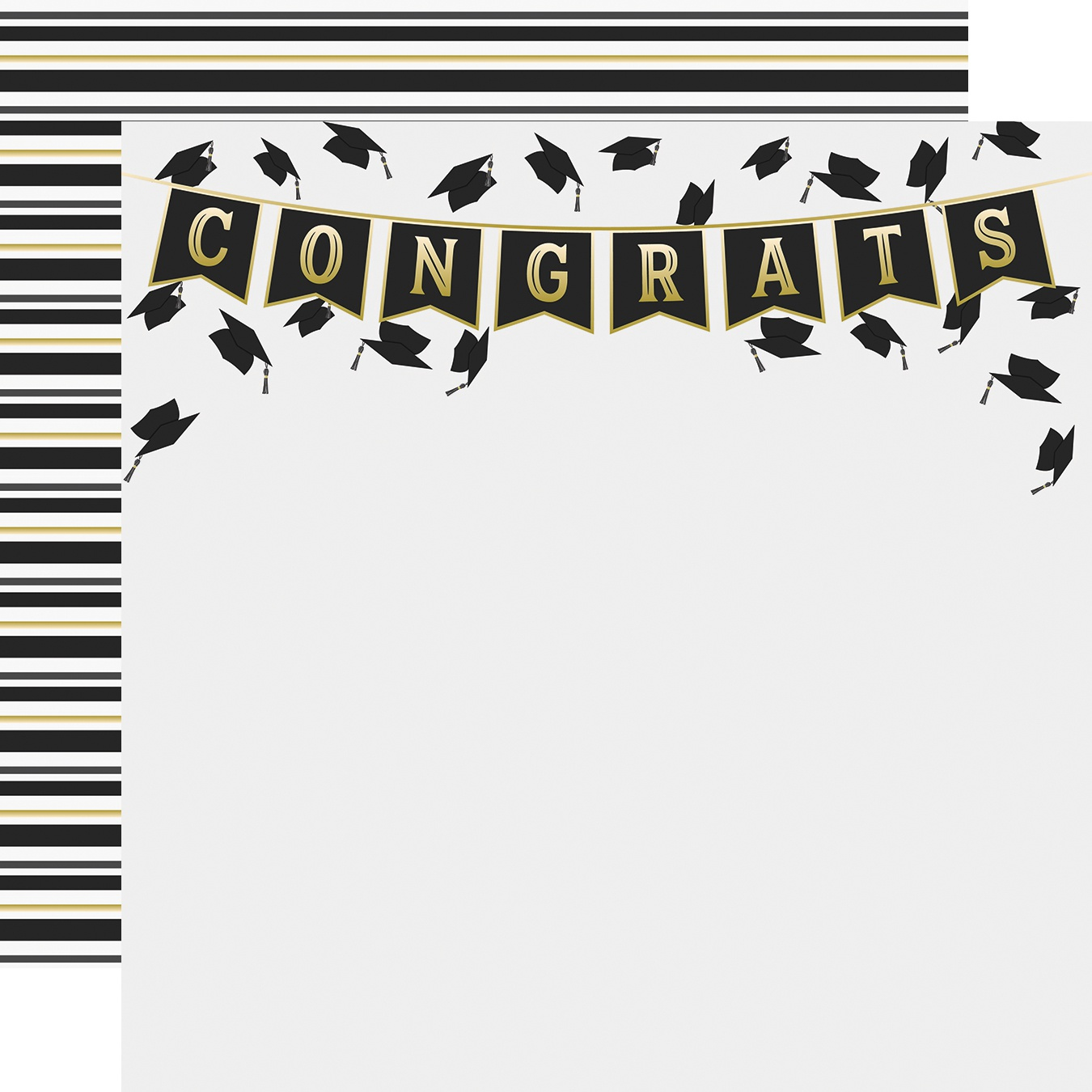 Simple Sets Con-GRAD-ulations Double-Sided Cardstock 12X12-Hats Off
