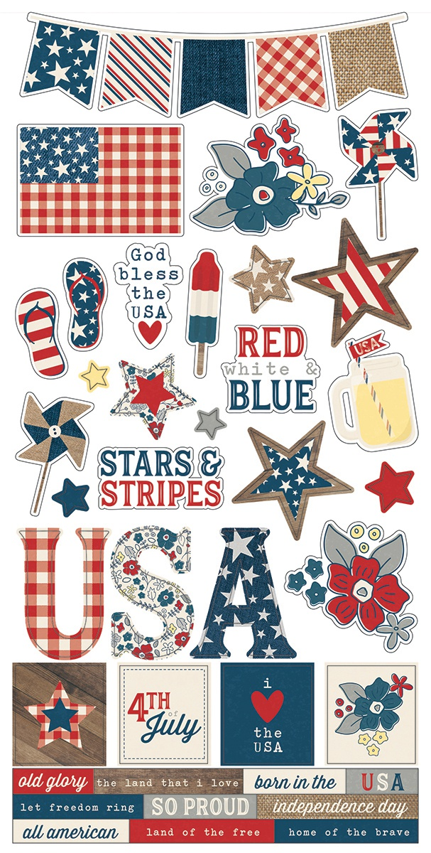 Simple Sets Let Freedom Ring Cardstock Stickers 6X12-