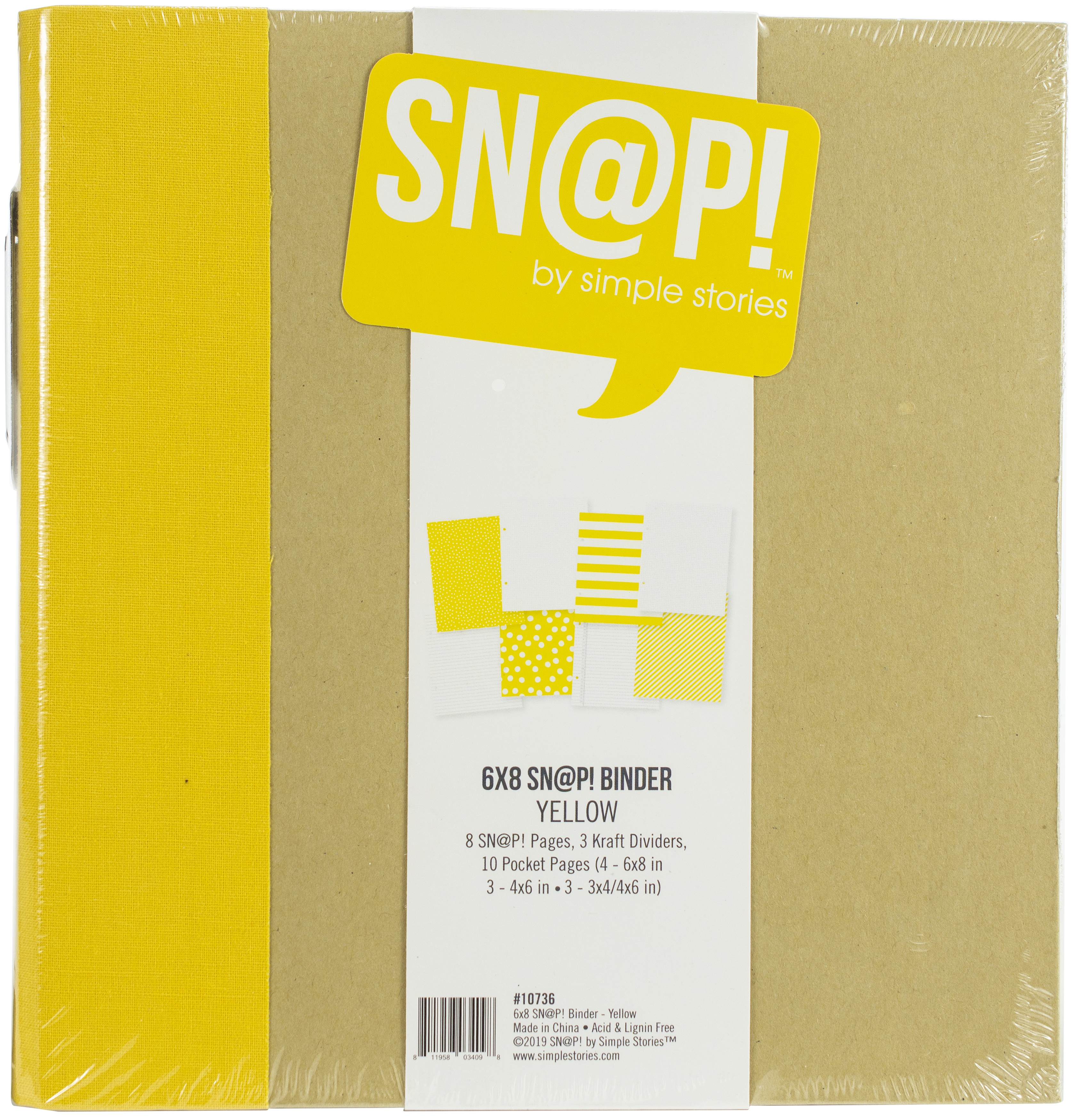 Simple Stories Sn@p! Binder 6X8-Yellow