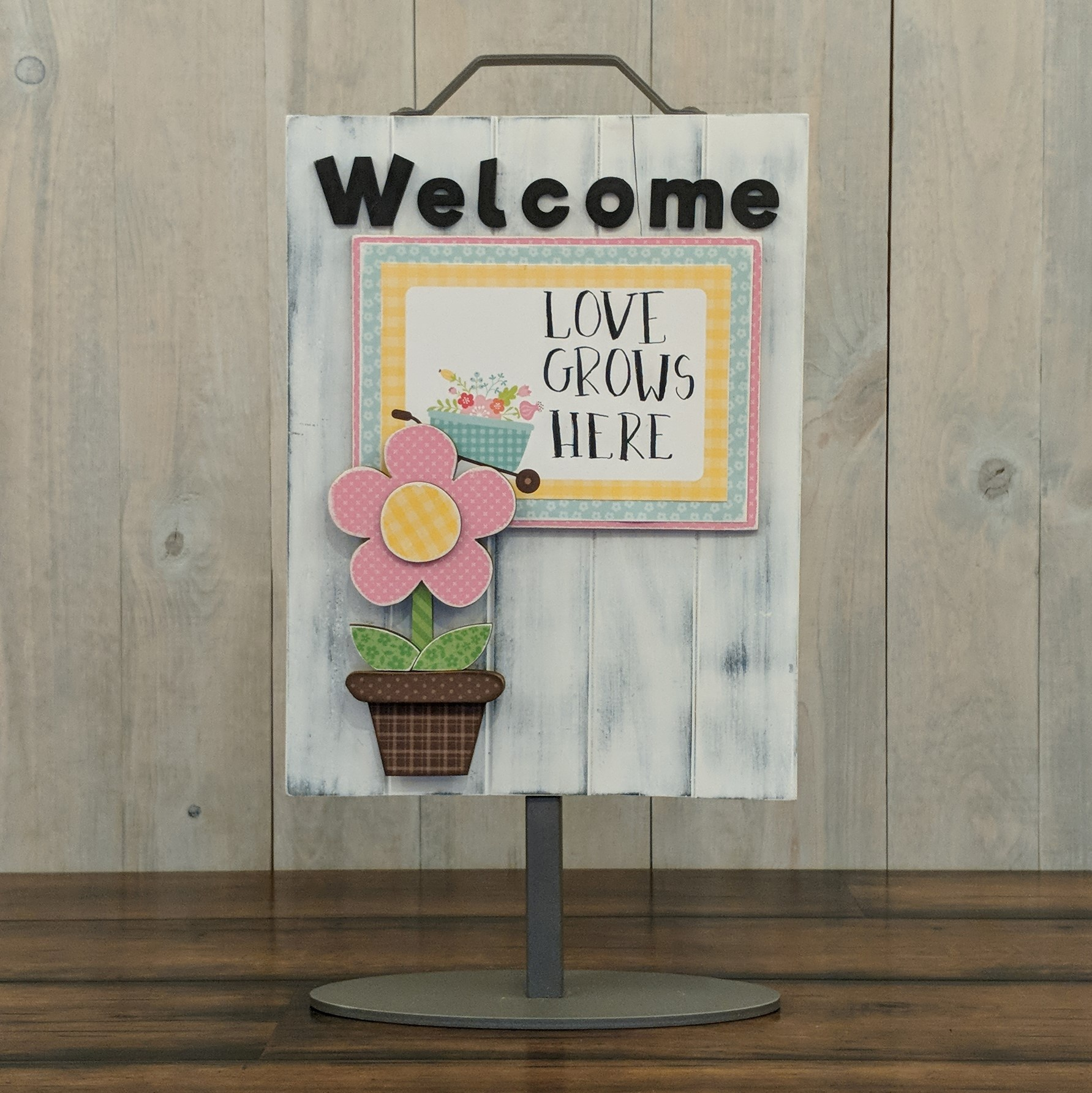 Foundations Decor Welcome Sign Kits-Flower