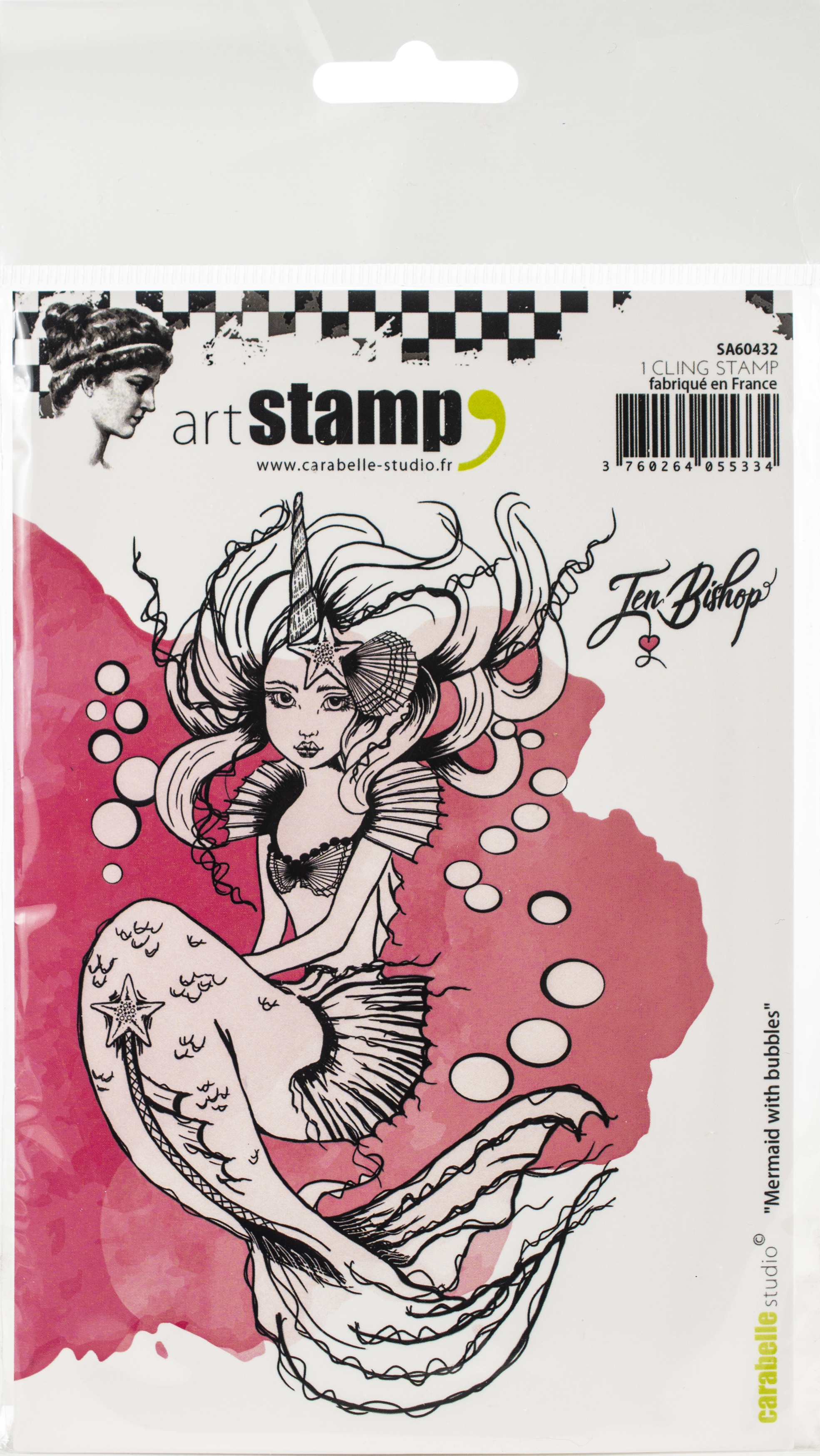 Carabelle Studio Cling Stamp A6 By Jen Bishop-Mermaid