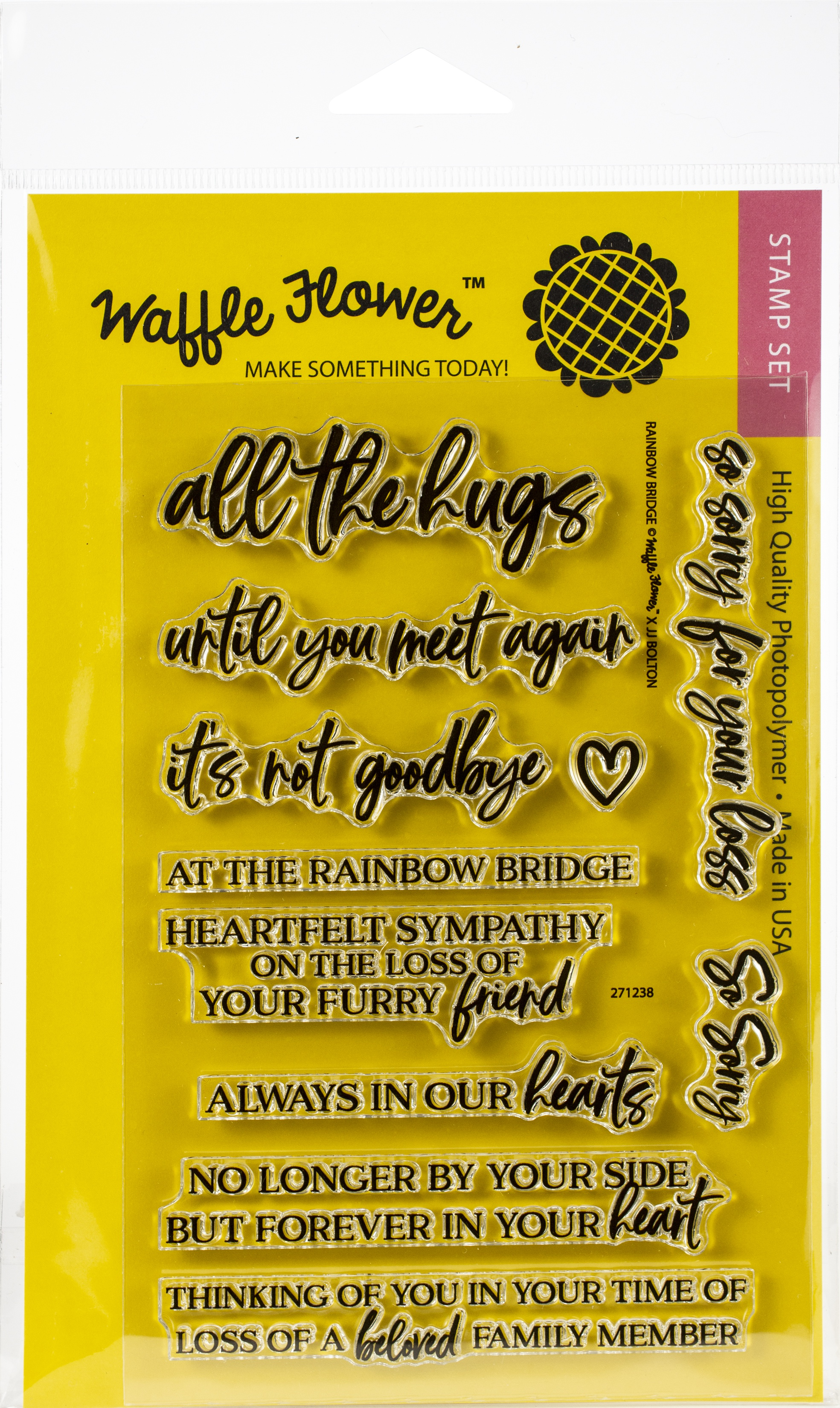 Waffle Flower Crafts Clear Stamps 4X6-Rainbow Bridge