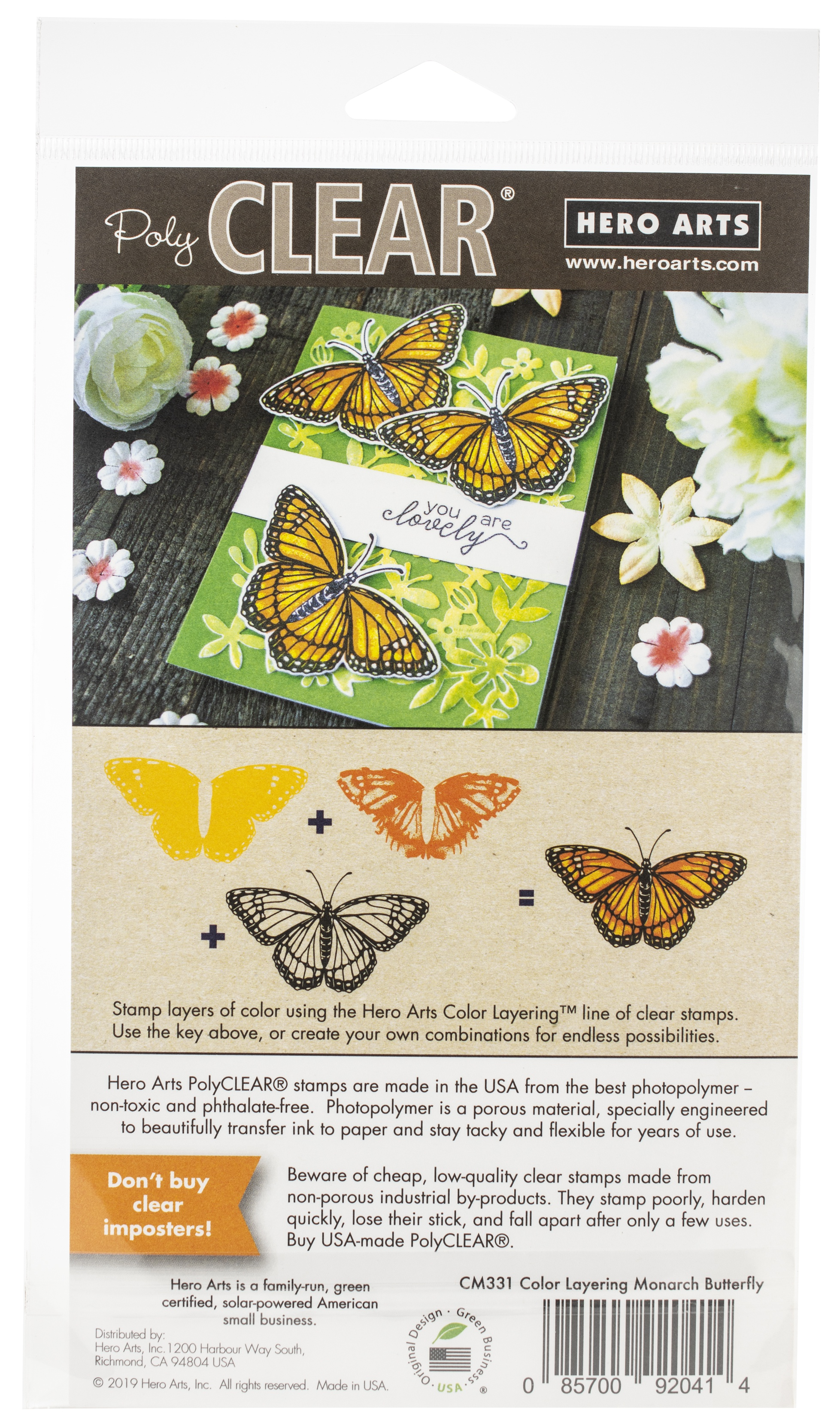 Hero Arts Color Layering Clear Stamps 4X6-Monarch
