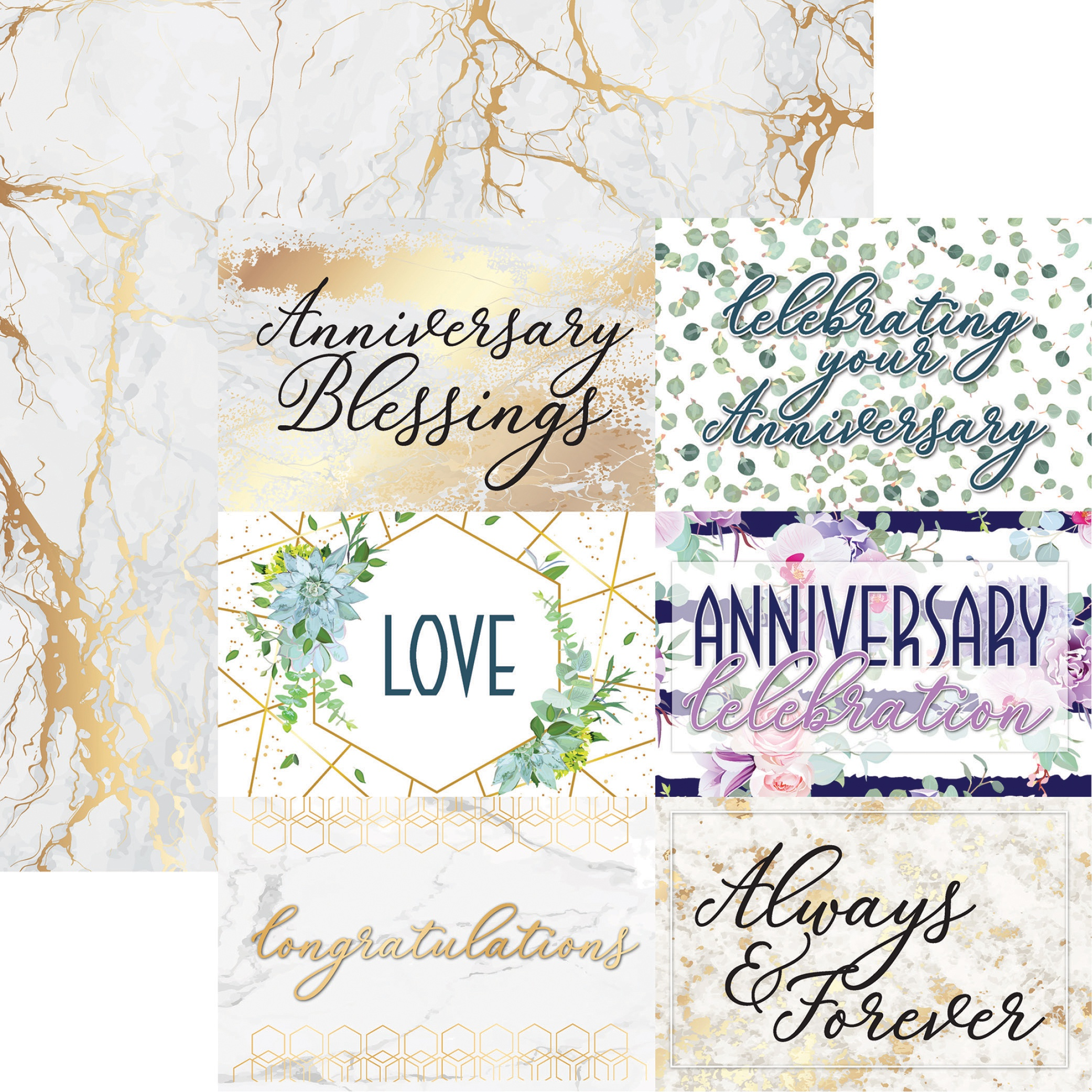 Anniversary Double-Sided Cardstock 12X12-Blessings Of Love