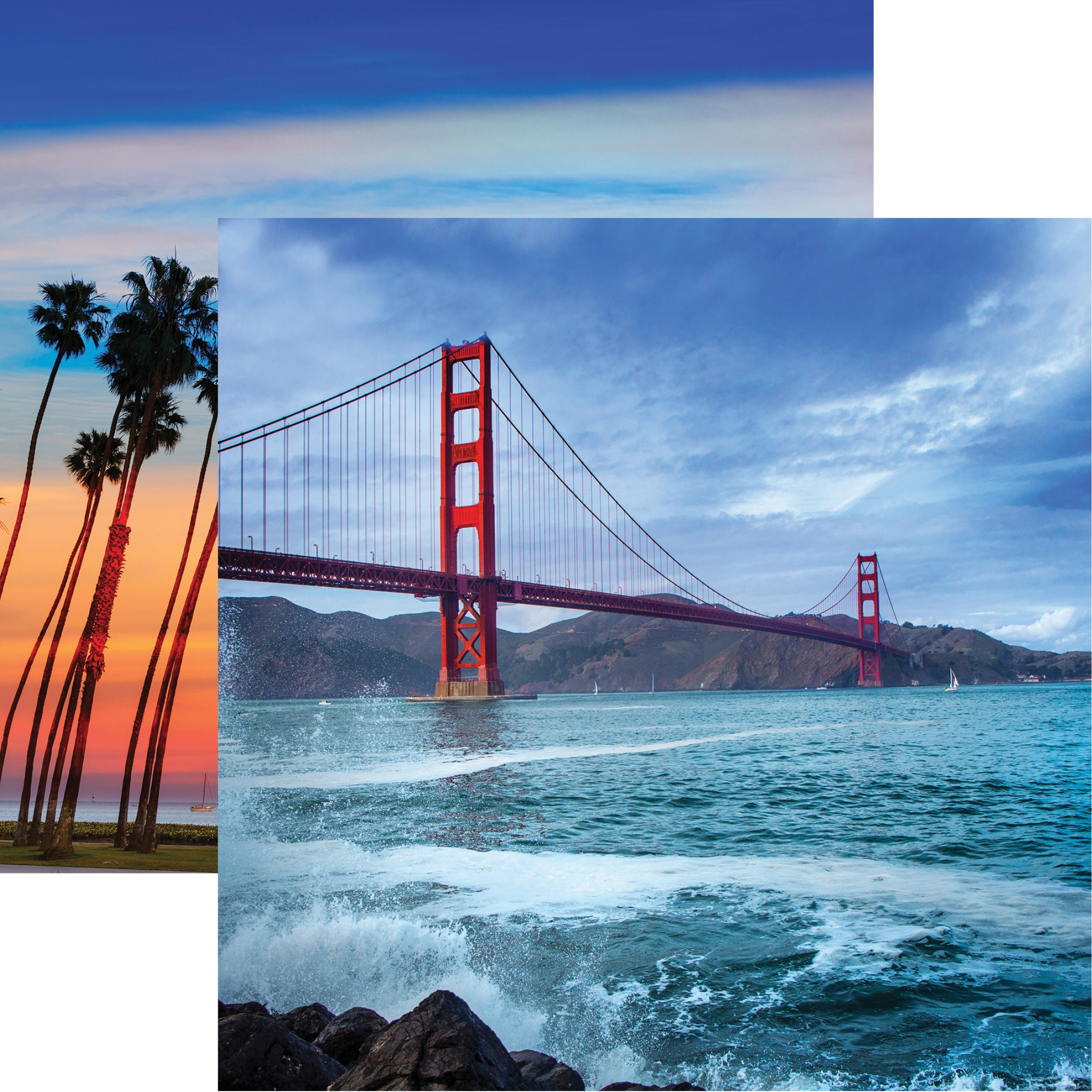 California Double-Sided Cardstock 12X12-Golden Gate