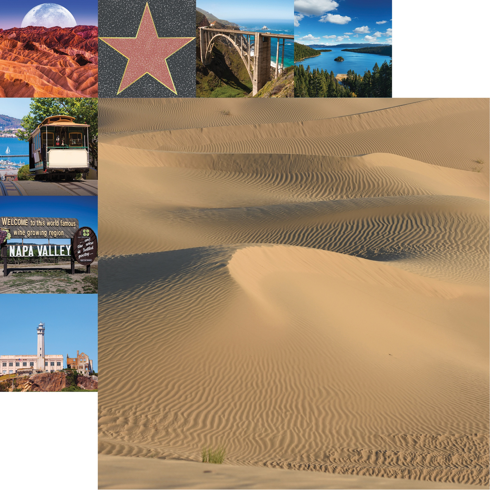 California Double-Sided Cardstock 12X12-Death Valley