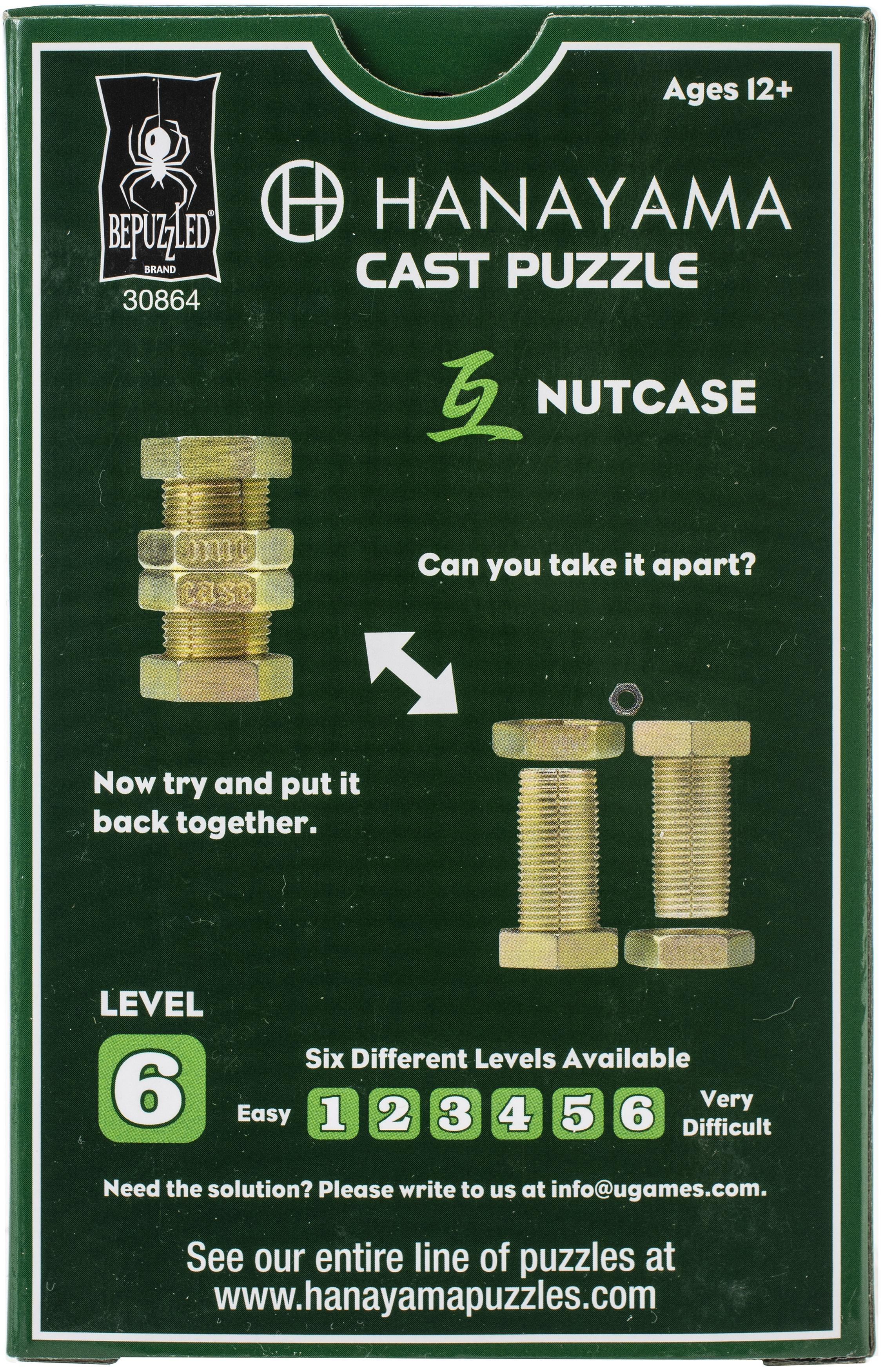 Hanayama Cast Puzzles-Nutcase Level 6