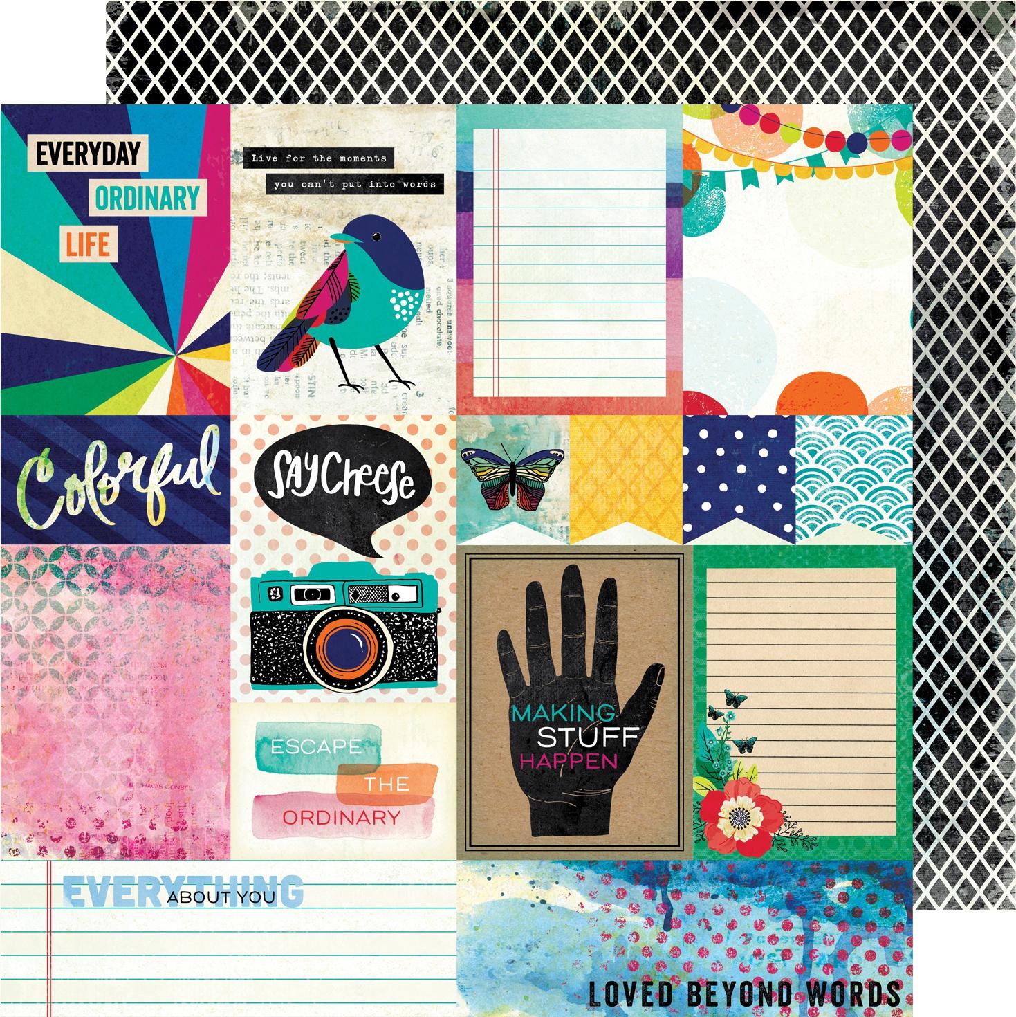 Vicki Boutin Color Kaleidoscope Dbl-Sided Cardstock 12X12-Beyond Words