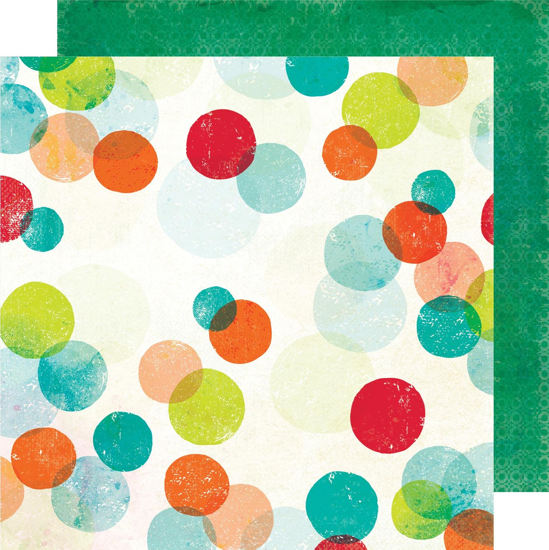Vicki Boutin Color Kaleidoscope Dbl-Sided Cardstock 12X12-Pop Dots