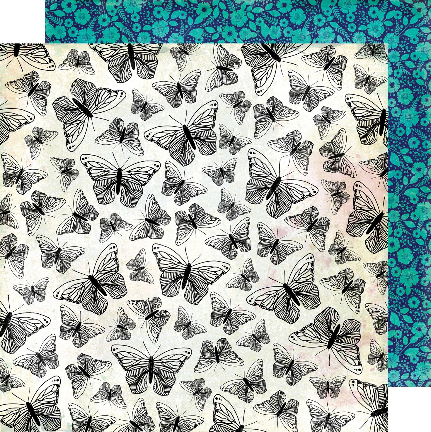 Vicki Boutin Color Kaleidoscope Dbl-Sided Cardstock 12X12-Flight Of Fancy