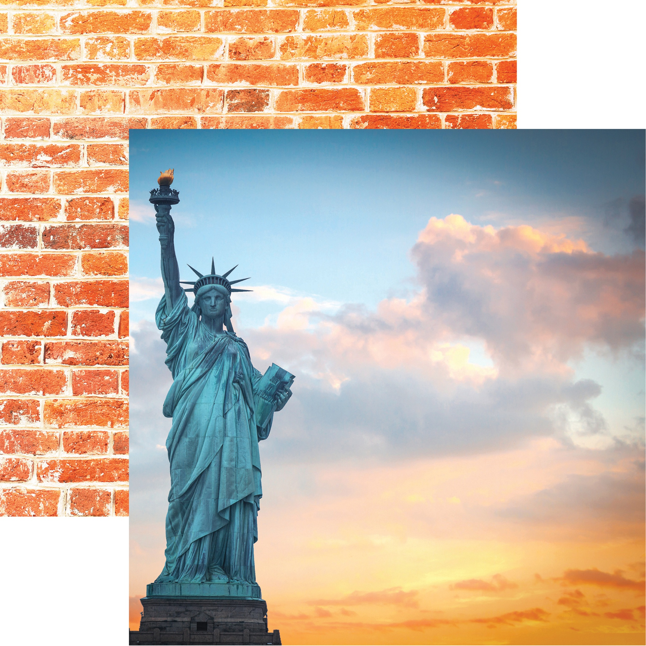 New York Double-Sided Cardstock 12X12-Lady Liberty