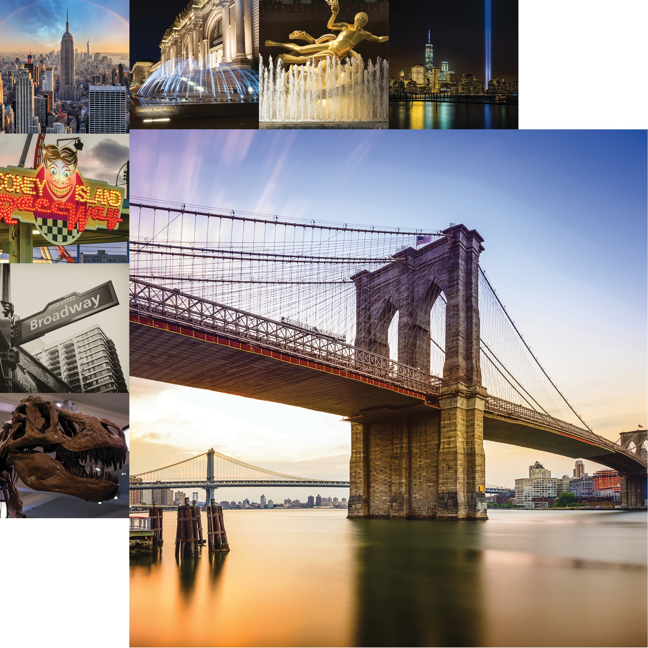 New York Double-Sided Cardstock 12X12-Brookly Bridge