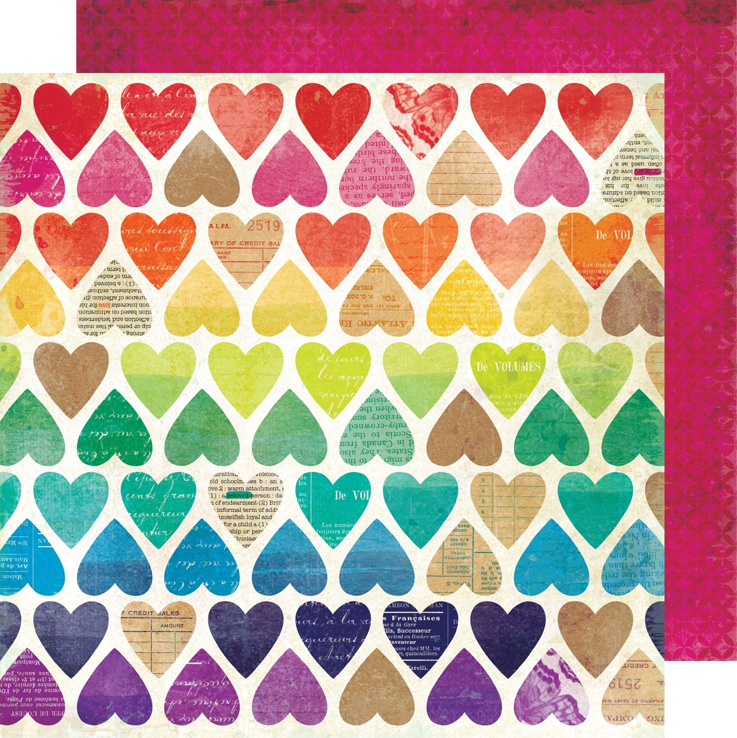 Vicki Boutin Color Kaleidoscope Dbl-Sided Cardstock 12X12-Paper Hearts